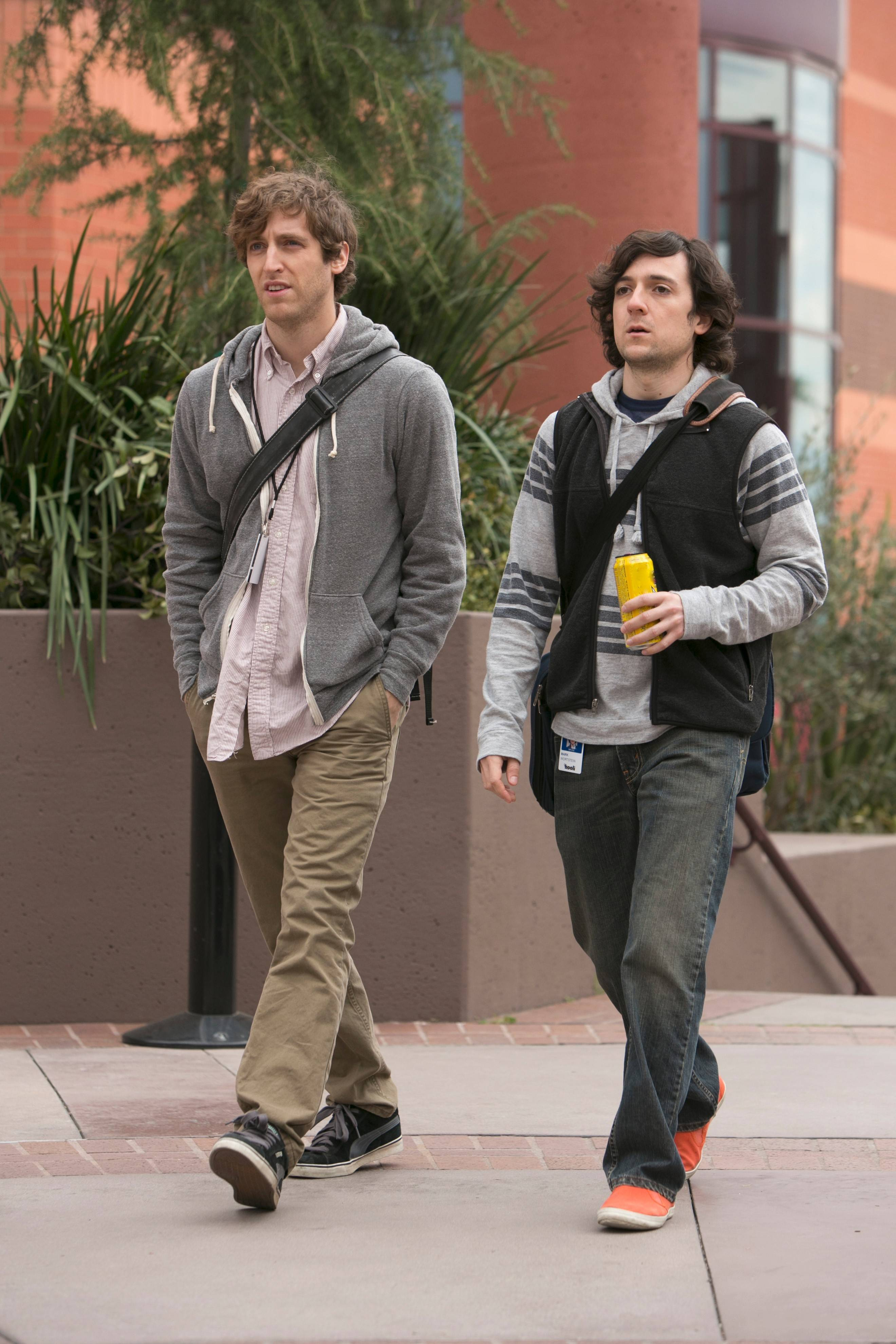 "Thomas Middleditch and Josh Brener play programmers trying to make their mark in the tech world in HBO's ""Silicon Valley."""
