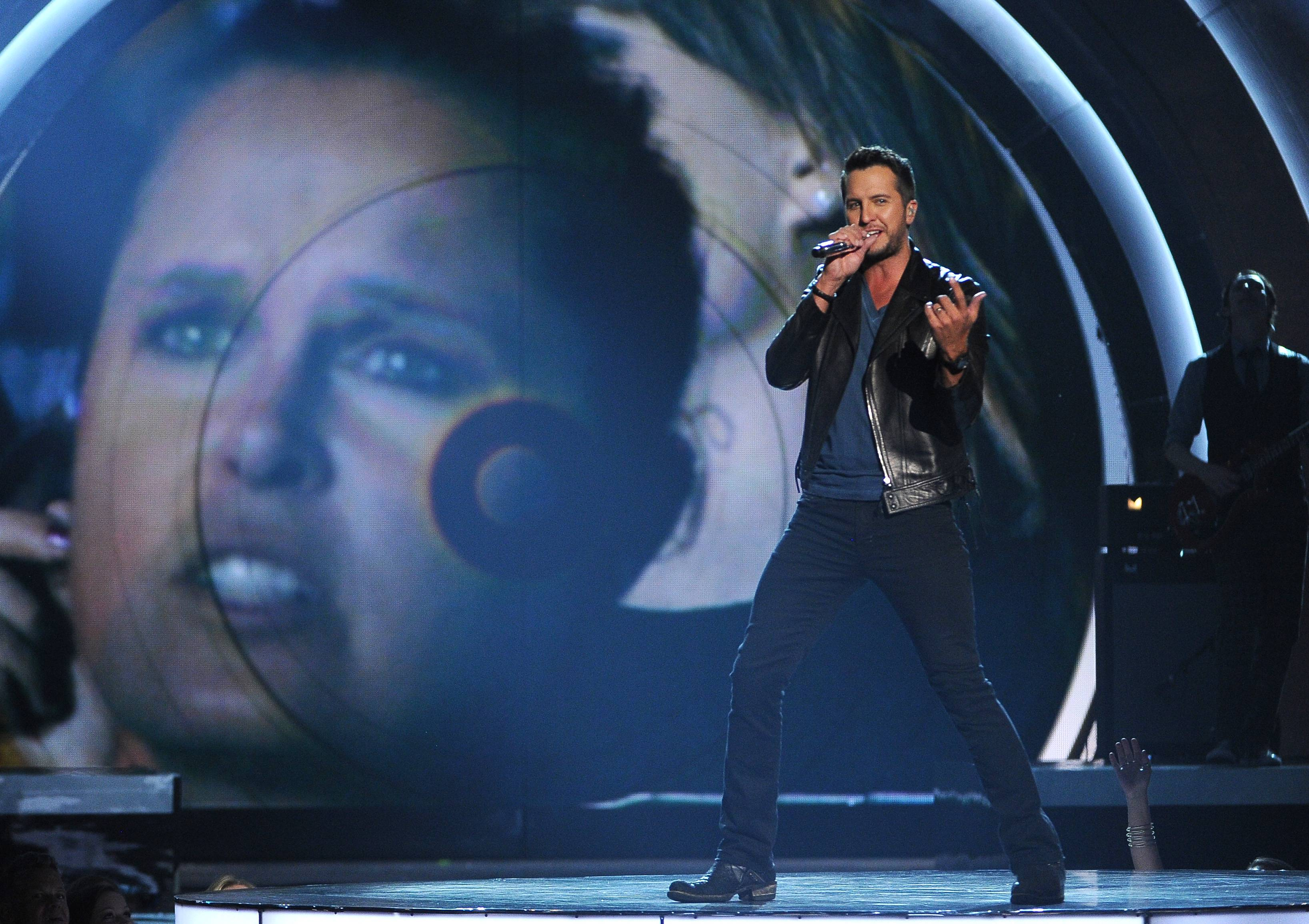 Luke Bryan performs on stage at the 49th annual Academy of Country Music Awards.