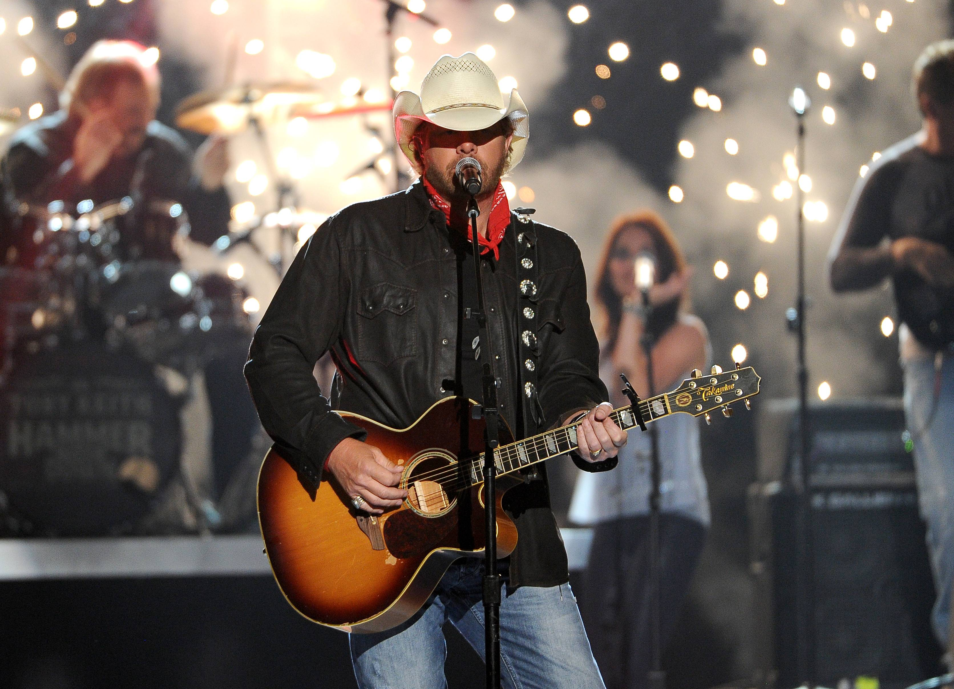 Toby Keith performs on stage at the 49th annual Academy of Country Music Awards.