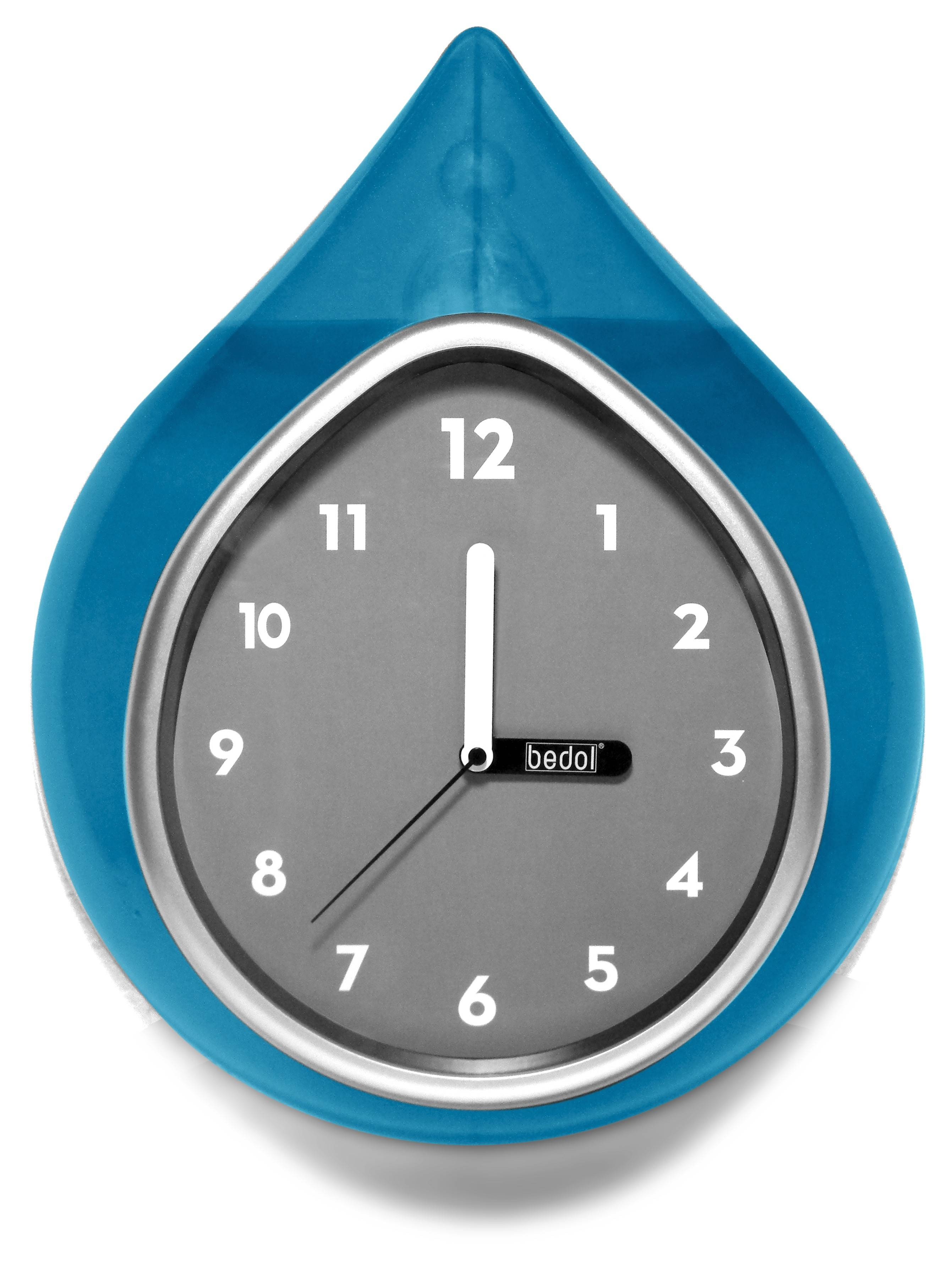 Fill Bedol's Water Wall Clock with water, and the ions keep it running for up to a year without a refill.