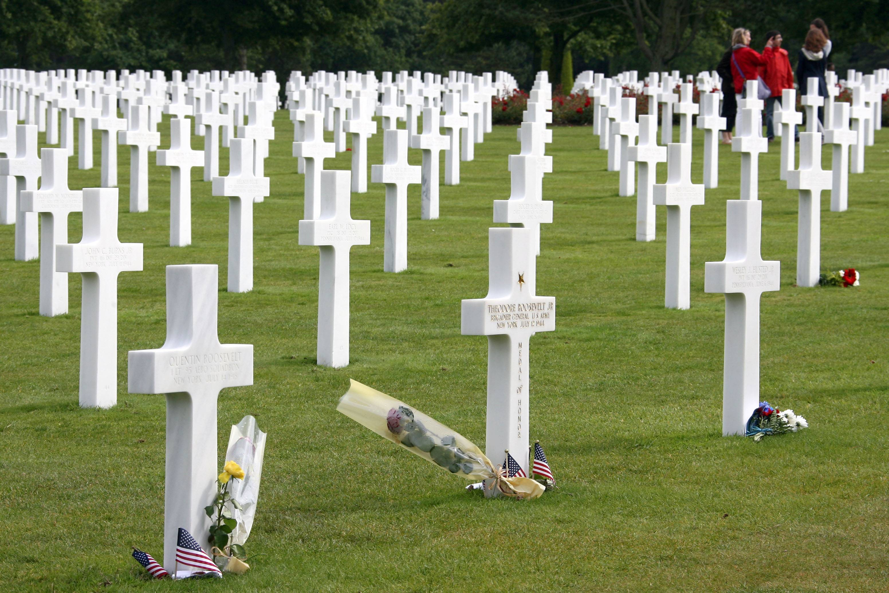 Tourists visit the U.S. military cemetery in Colleville sur Mer, western France, for the D-Day Anniversary in 2011. This year is the 70th anniversary of D-Day, where Allied forces landed in Normandy on June 6, 1944 during World War II.