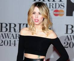 """In this Feb. 19, 2014 file photo Peaches Geldof, daughter of Bob Geldof is seen at the Brit Awards 2014, in London. Peaches Geldof, the model and television presenter who was concert organizer Bob Geldof's daughter, has died at age 25. Bob Geldof said in a statement Monday, April 7, 2014: """"Peaches has died. We are beyond pain."""""""