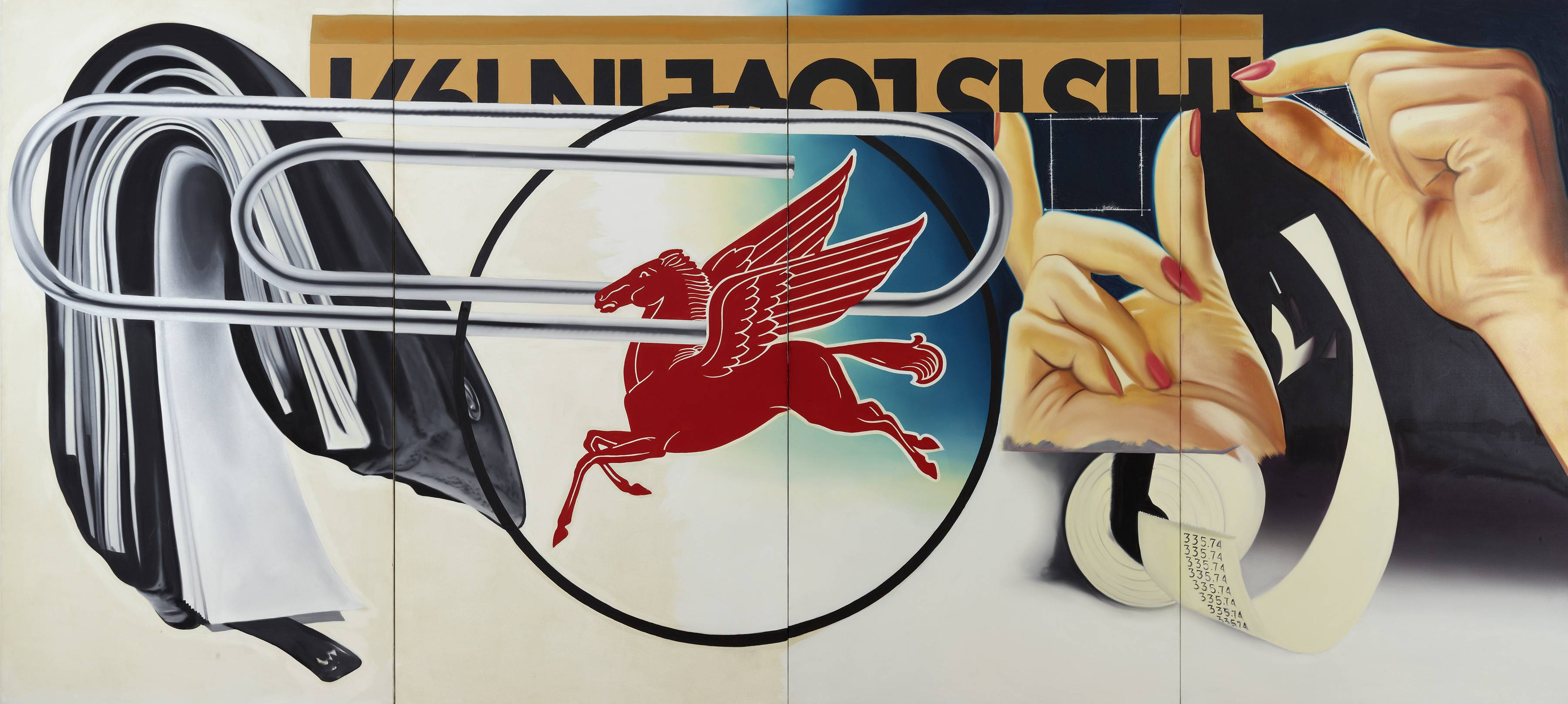 "This image provided by the Dallas Museum of Art shows James Rosenquist's 1973 work titled ""Paper Clip."" AP Photo/Dallas Museum of Art"