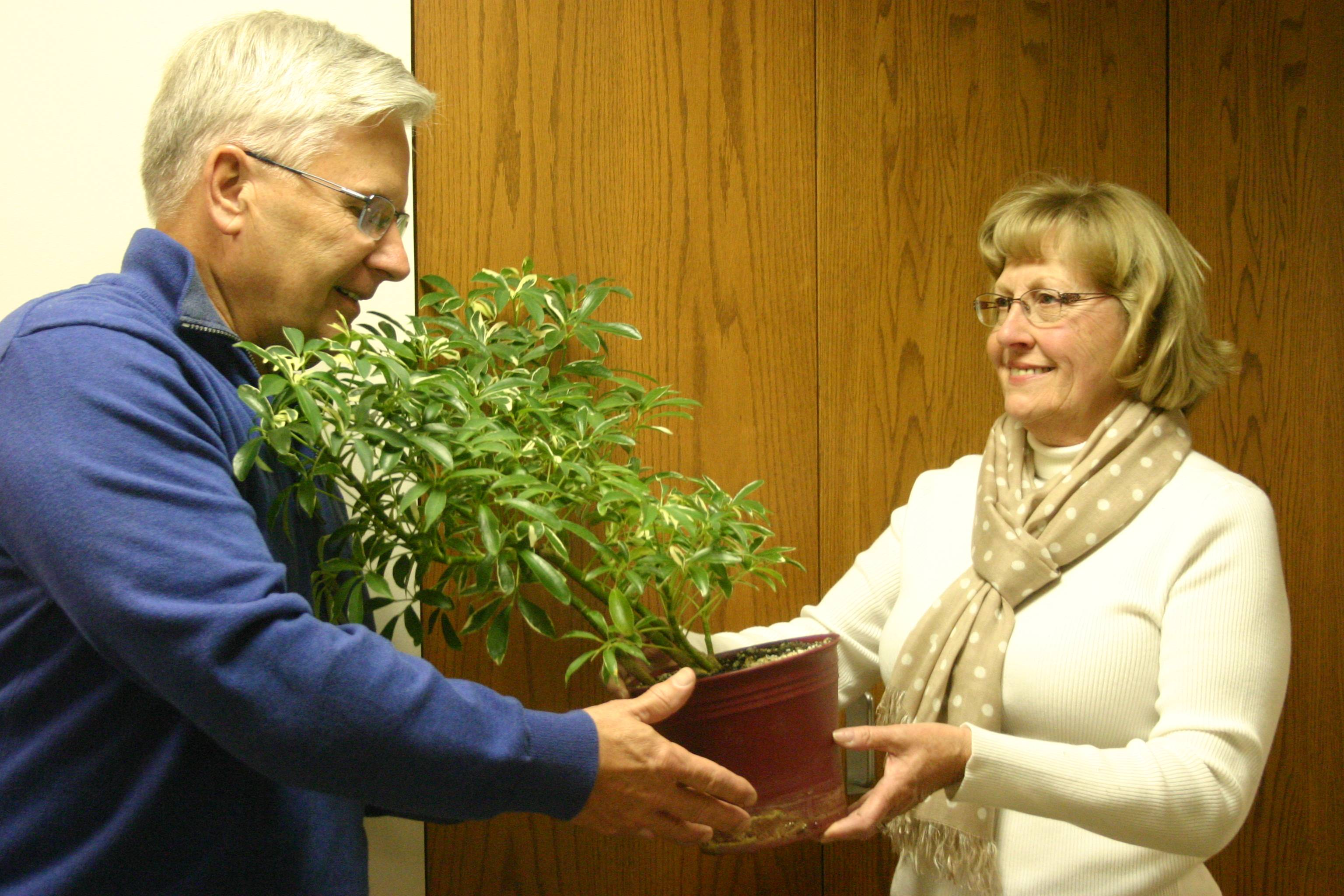 Ken and Pam Bruhn of Elgin gather plants to recreate the Garden of Gethsemane at South Elgin Community United Methodist Church.