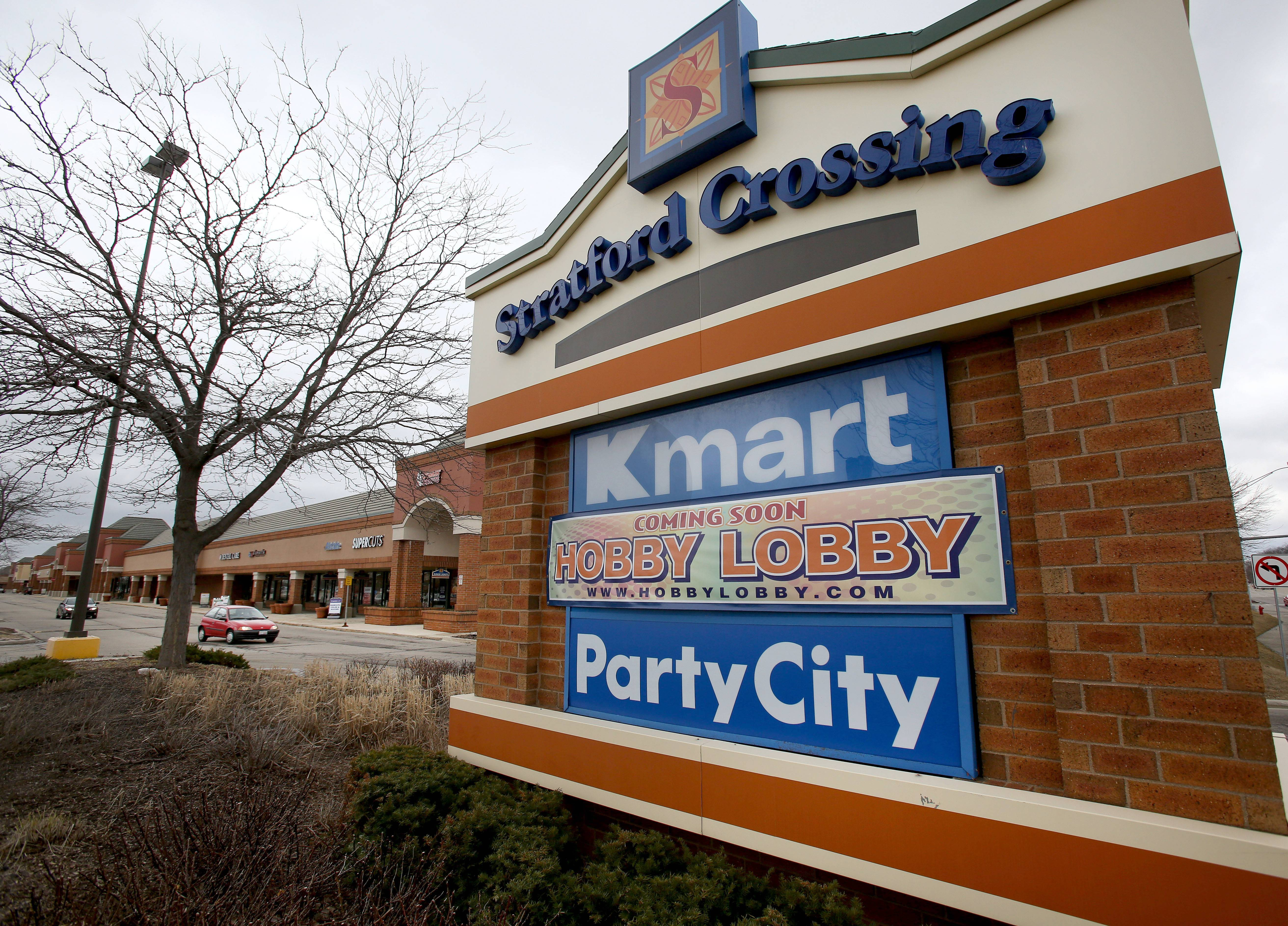 Bloomingdale officials are considering the creation of a business district that would result in new tax dollars being used toward improvements at the Stratford Crossing Shopping Center. In the meantime, a Hobby Lobby is set to open at 160 Gary Ave. early next month.