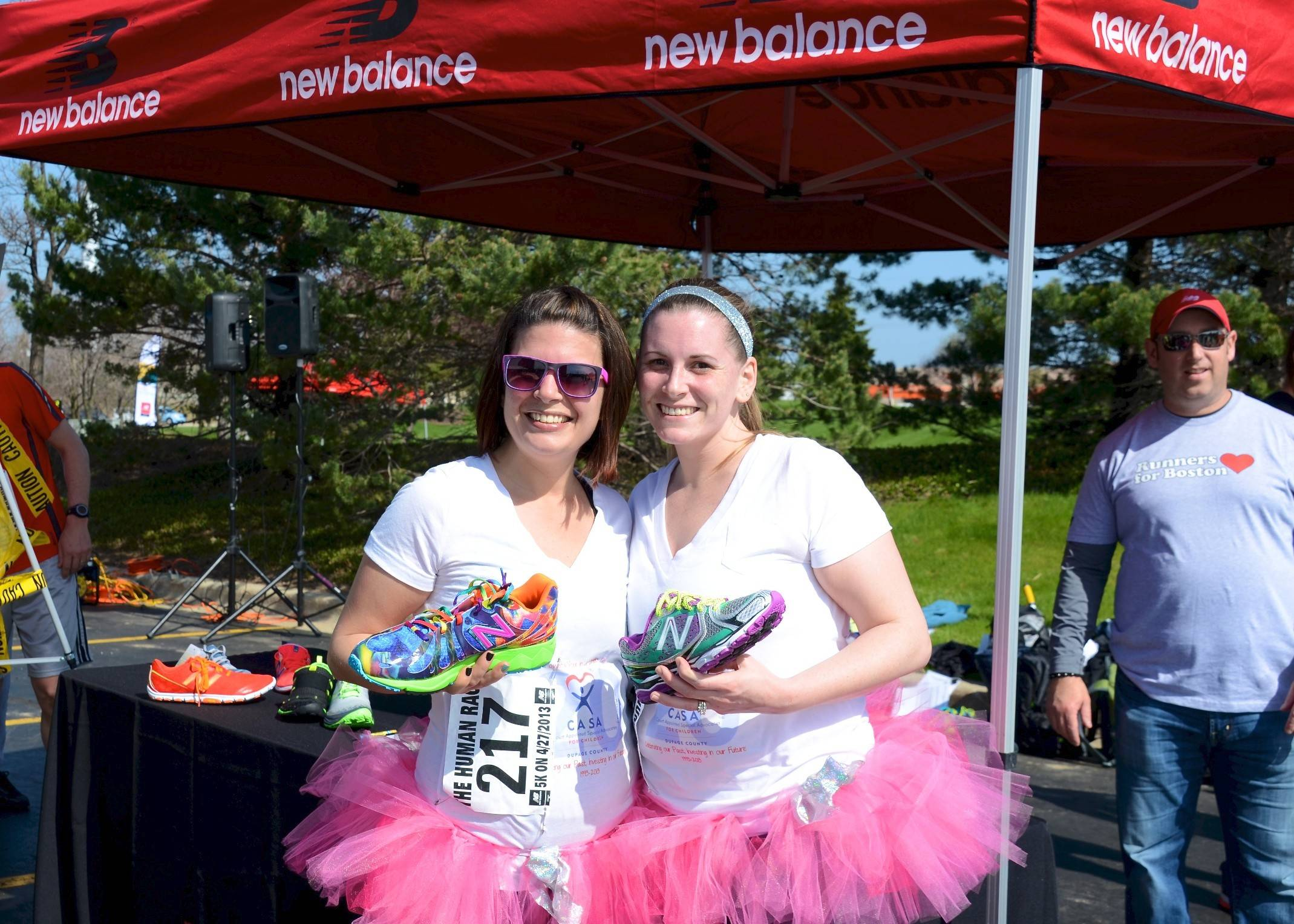 Lyndsay Czwornog of Wheaton, right, and her friend Tiffany Baker ran last year's Human Race in tutus on behalf of CASA of DuPage, where Czwornog volunteers. She'll run again in the 2014 race.