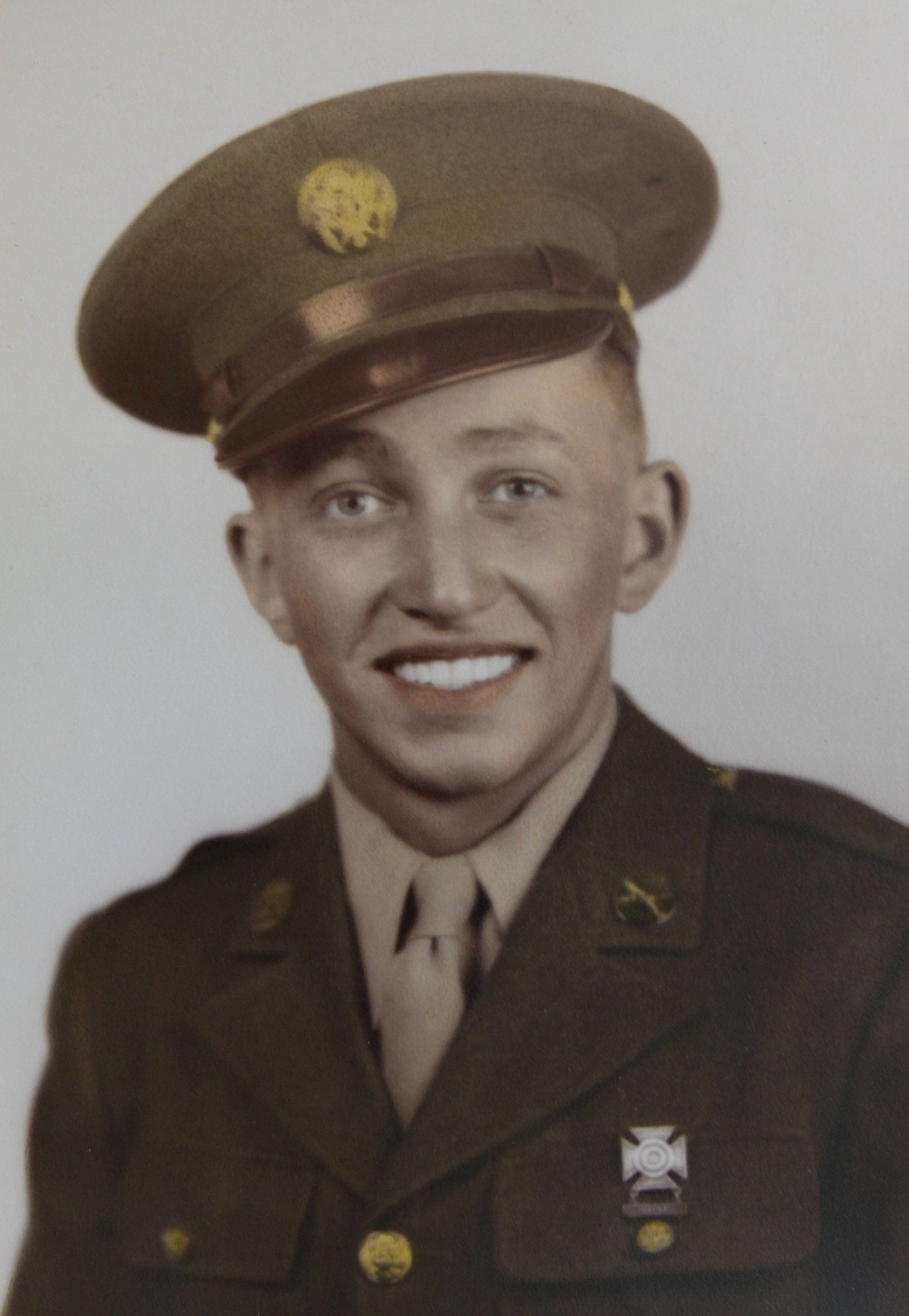 Joe Knupp of Glen Ellyn during his service in World War II.