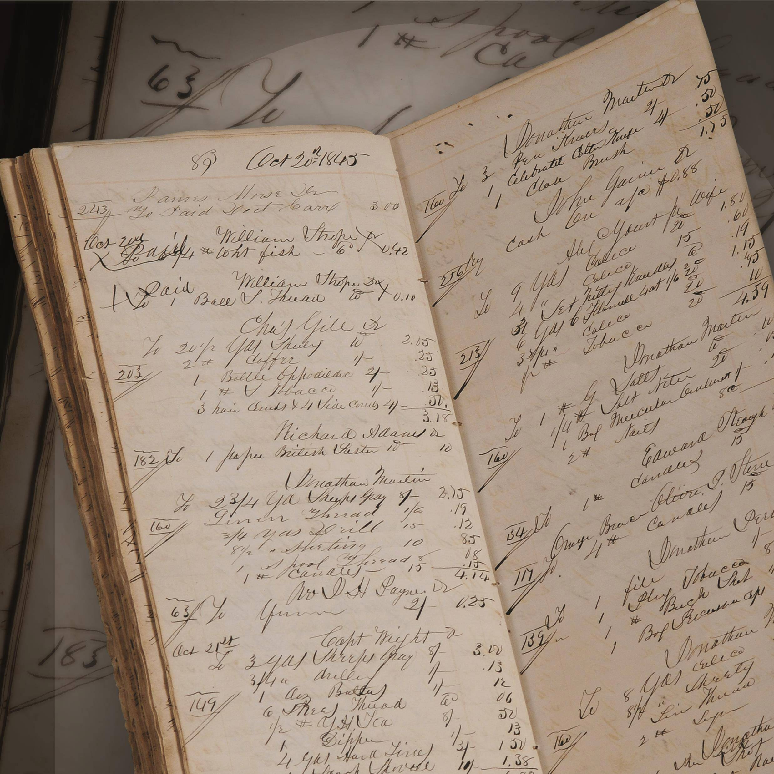 Easton's General Store ledger, one of the thousands of historical artifacts at the Lake County Discovery Museum.