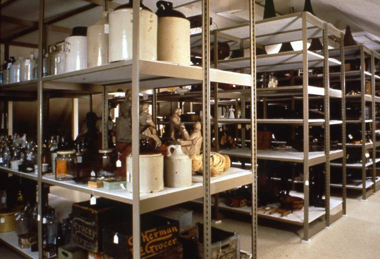 The main storage area at the Lake County Discovery Museum near Wauconda.