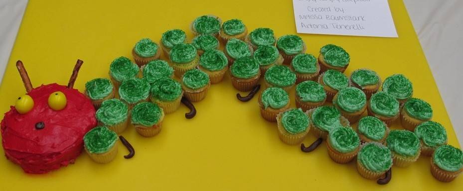 "Past entries in the Edible Books Contest included this tribute to ""The Very Hungry Caterpillar."""