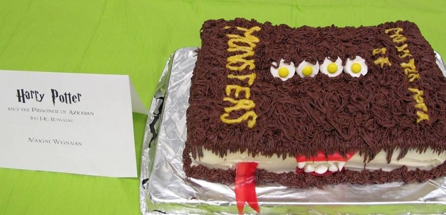 "Past entries in the Edible Books Contest have included this tribute to ""Harry Potter."""