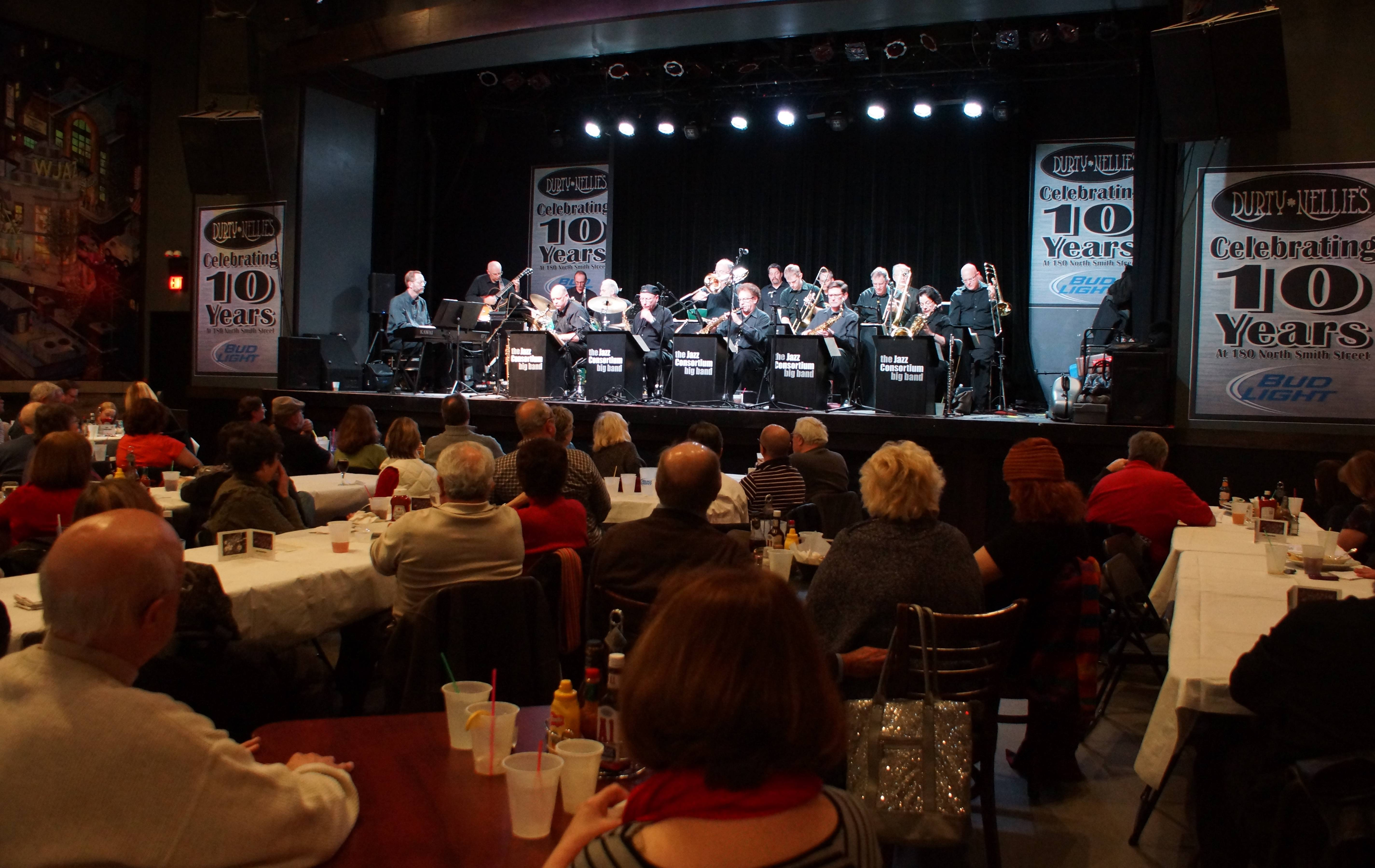 The 17-member Jazz Consortium Big Band performs at Durty Nellie's in Palatine.Alan Frohlichstein