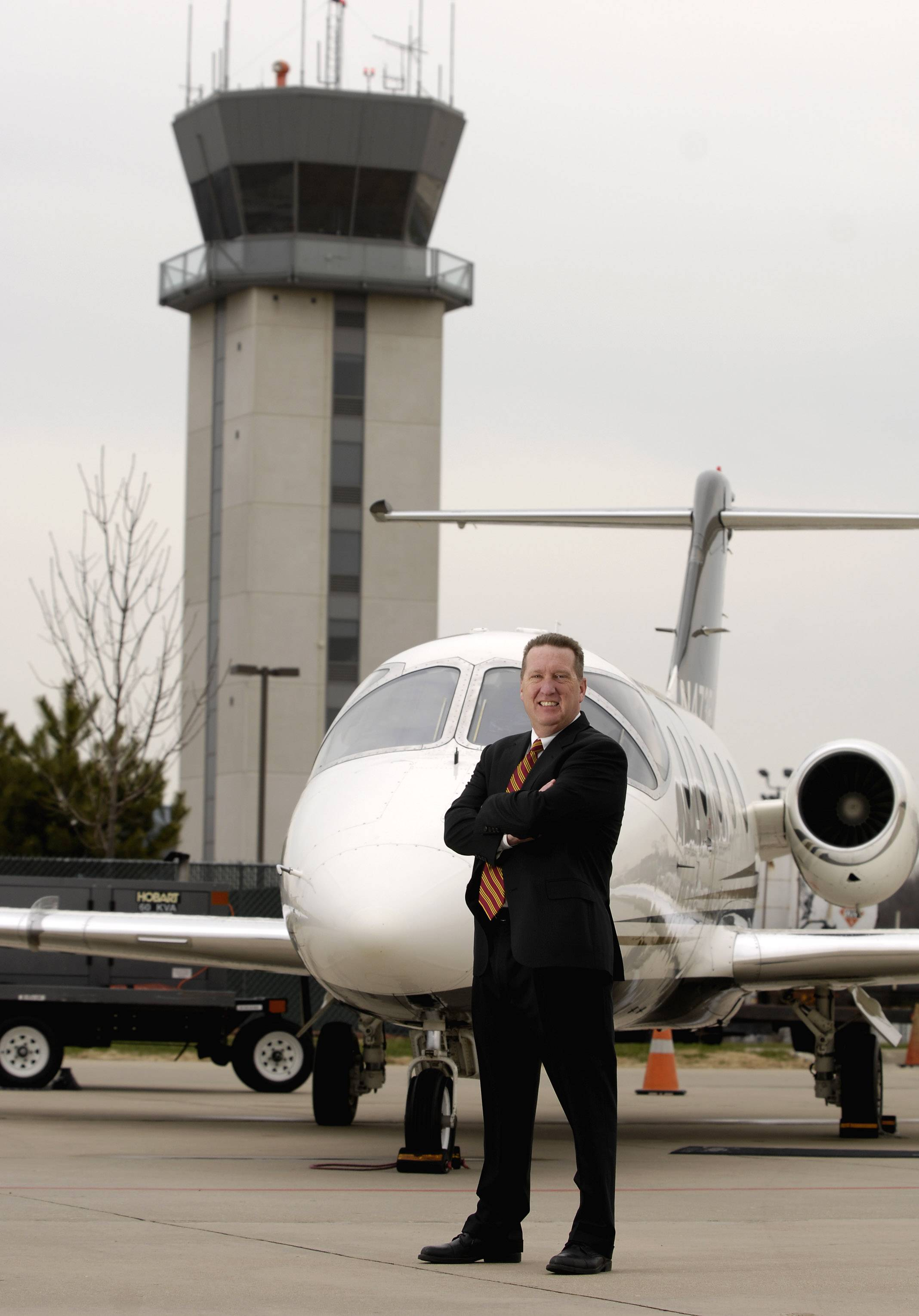 Dennis G. Rouleau in 2011 at Chicago Executive Airport.
