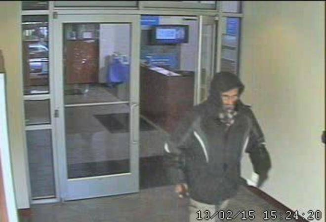 "The FBI is offering a $5,000 reward for information on the ""Hooded Bandit,"" suspected of at least five robberies since February 2013."