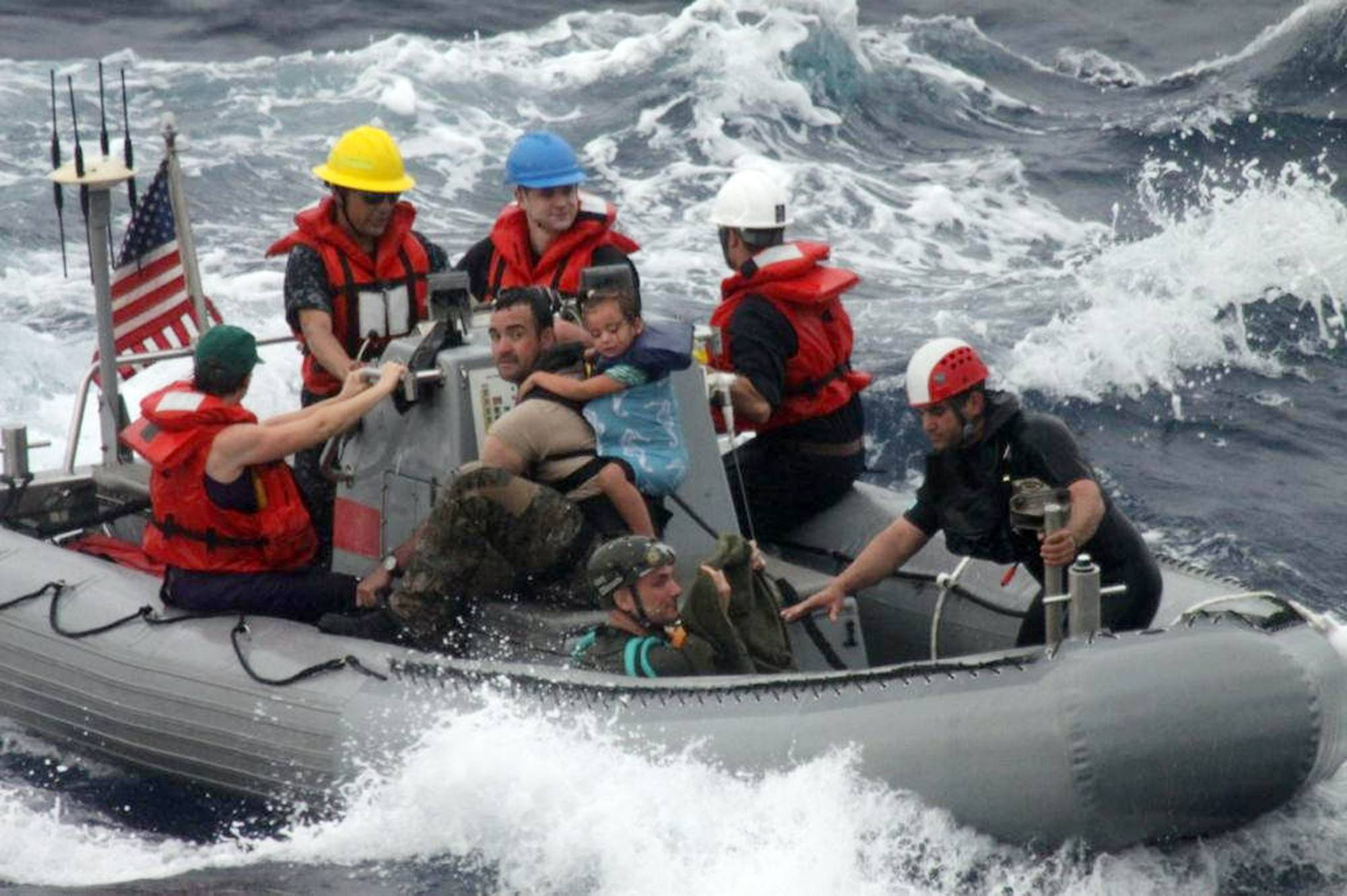 Navy ship with rescued family to arrive midweek