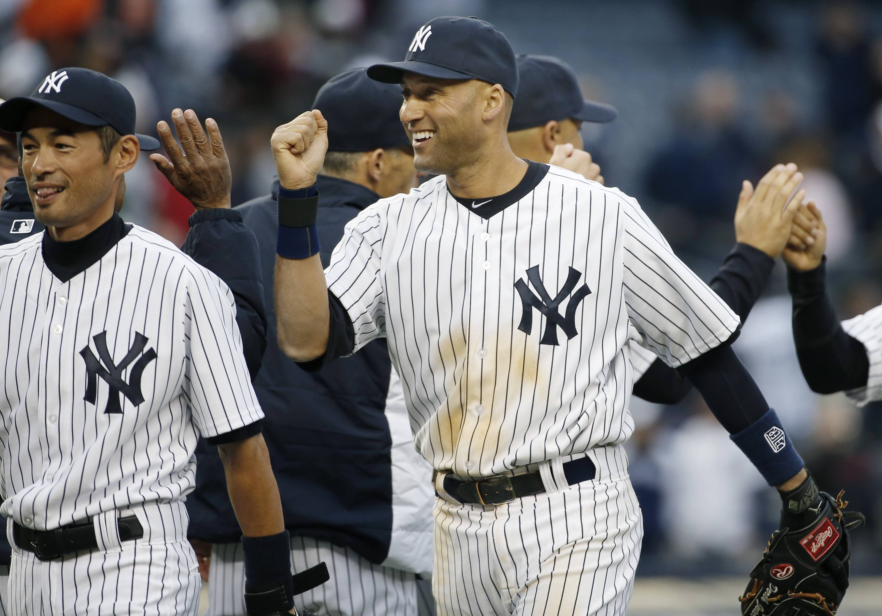 Enjoy New York Yankees shortstop Derek Jeter, right, while you can as he closes his Hall of Fame career this season.