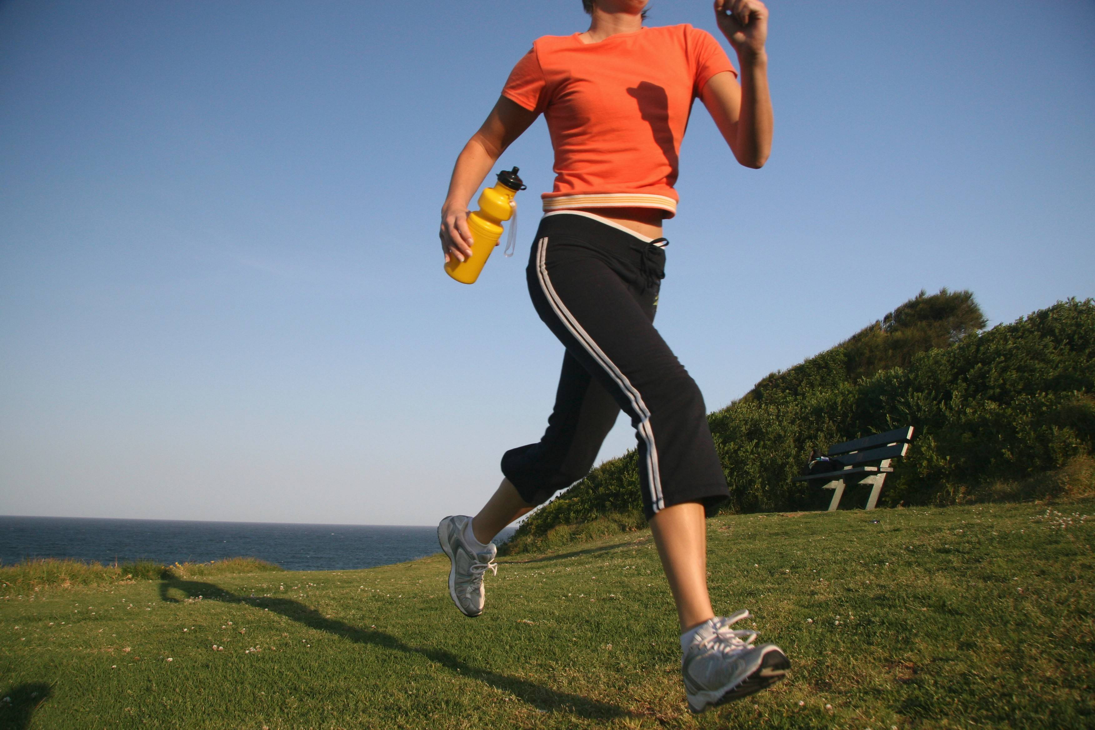 Carrying a water bottle when you run could be affecting your stride and slowing you down.
