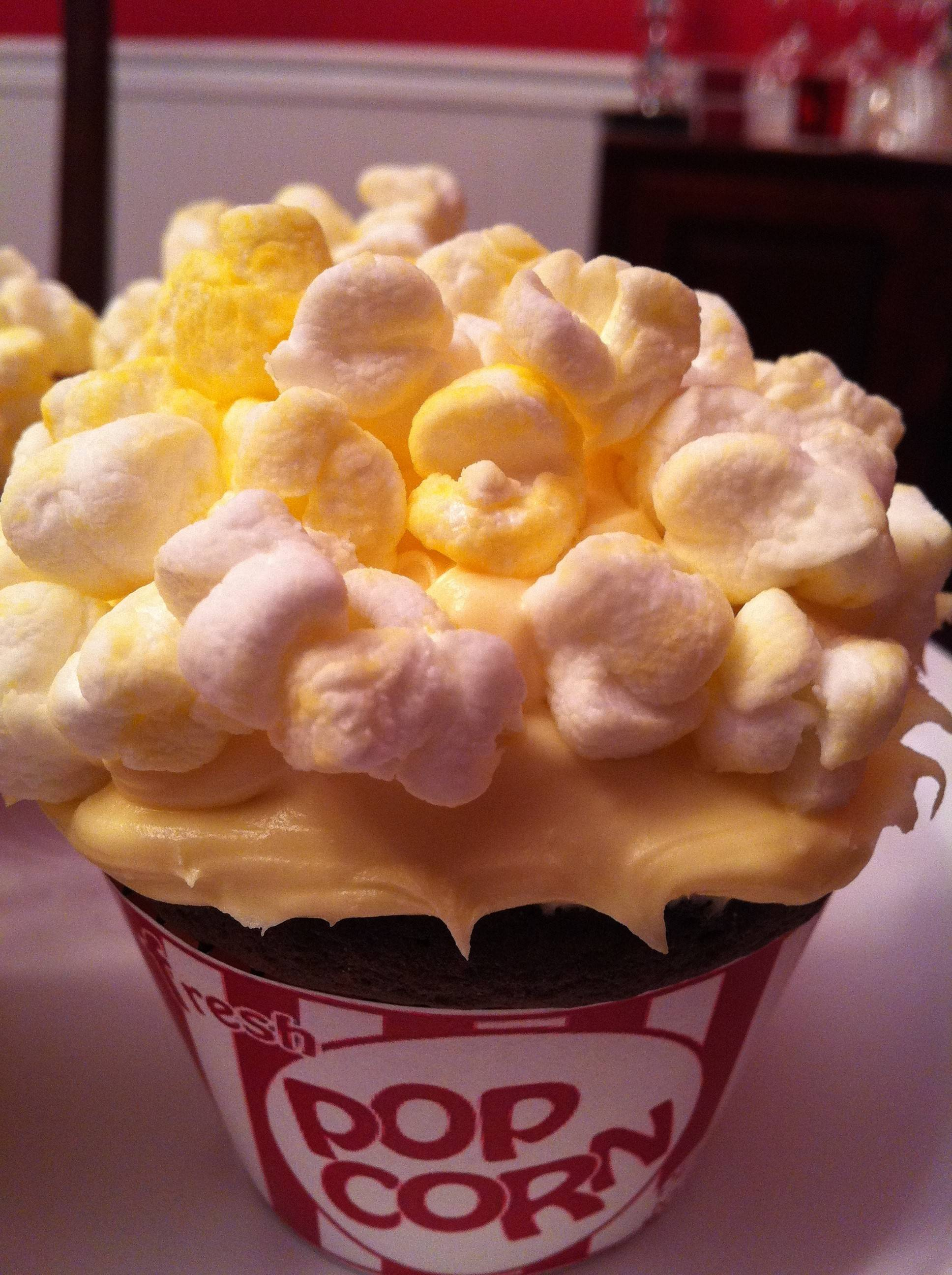 Popcorn cupcakes by Terri Edmunds of Naperville.