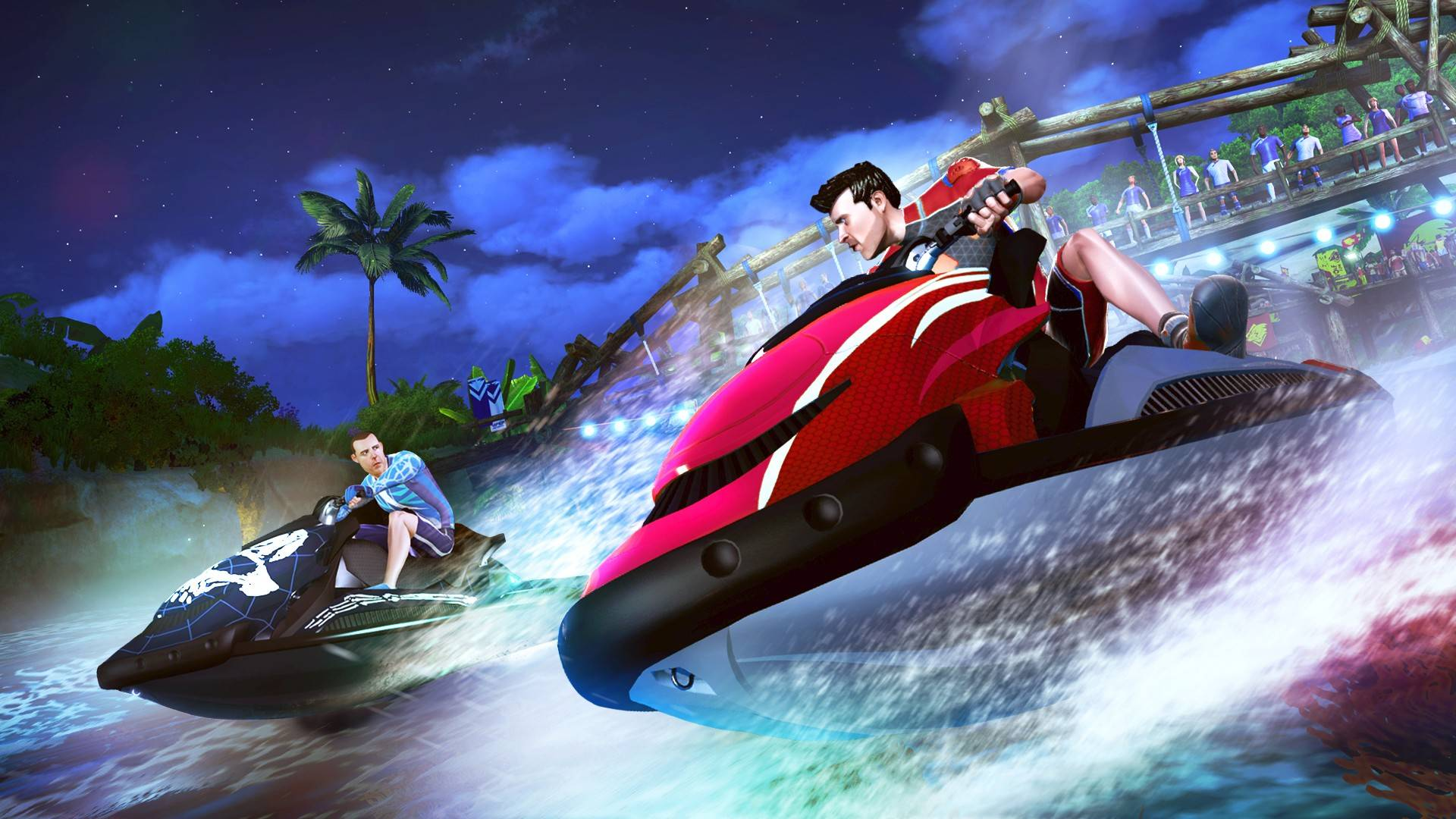 "It's like you're on vacation when you go jet ski racing in ""Kinect Sports Rivals."""