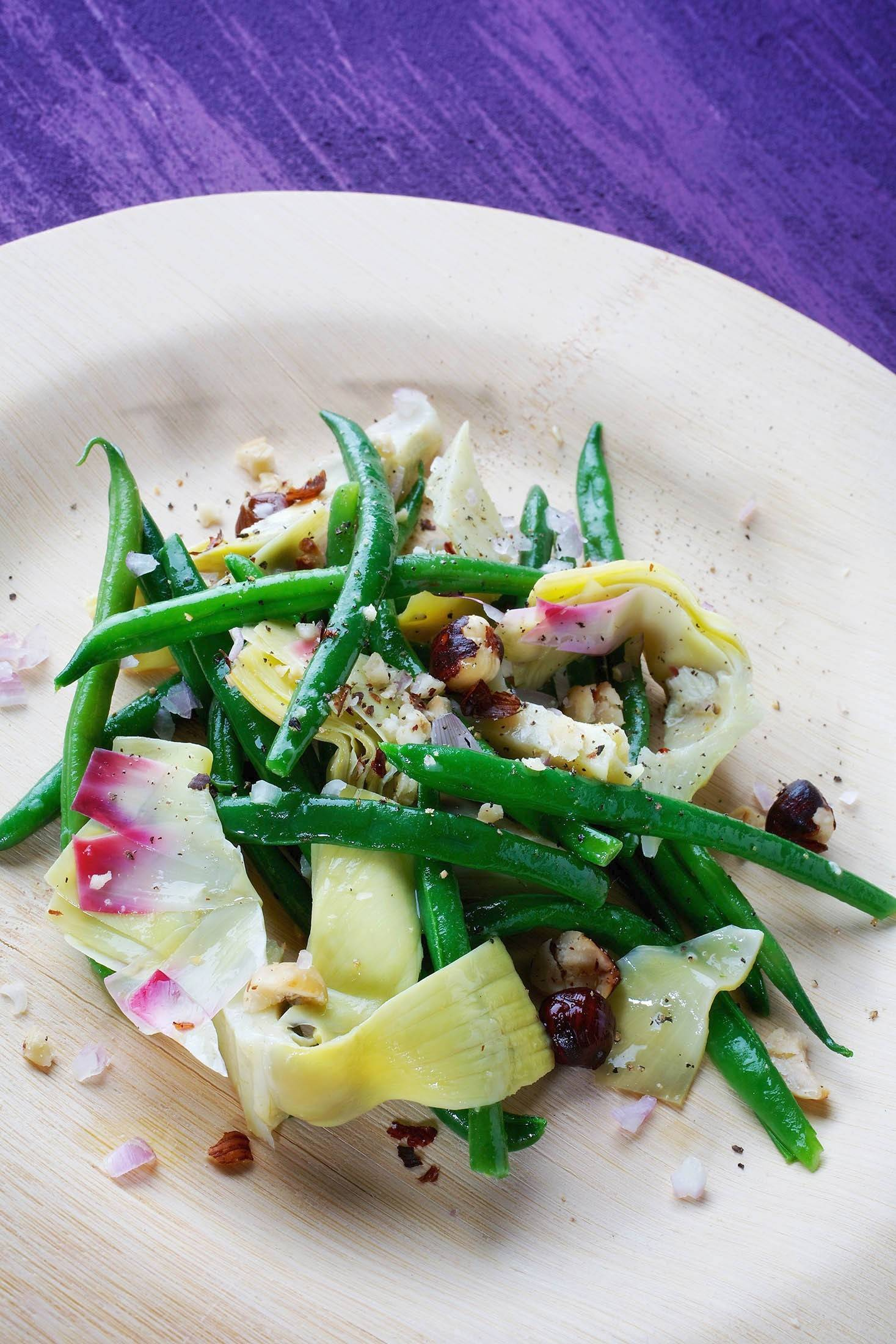 Green Bean, Artichoke and Hazelnut Salad