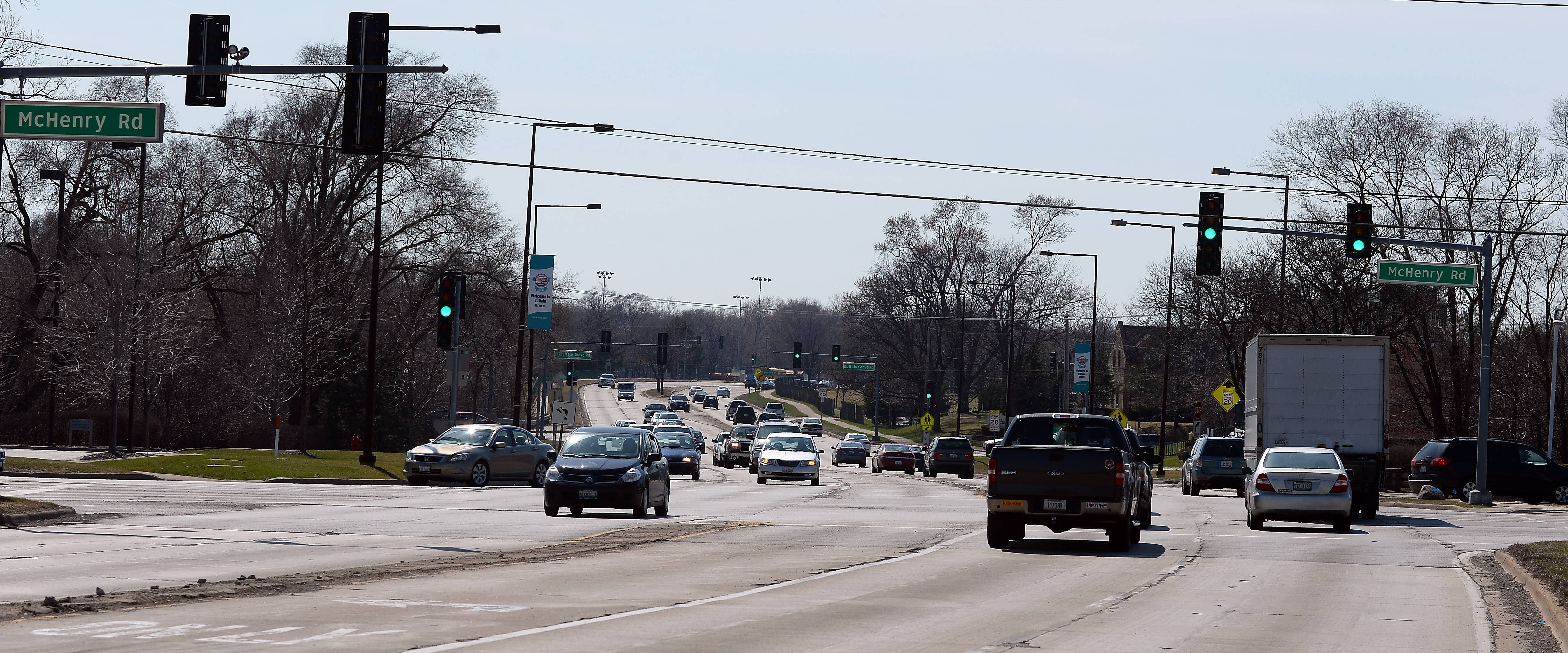 The intersection of Lake-Cook Road and McHenry Road in Buffalo Grove, which has the distinction of having the most auto accidents of any corner in the village.