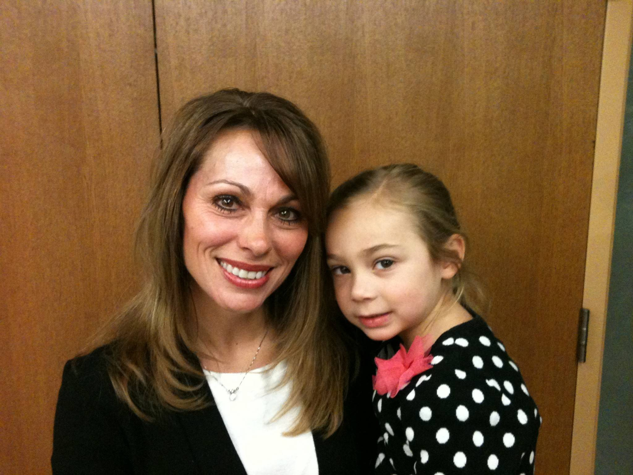 "Buffalo Grove added Laura LoVerde into its ""saved by the belt"" club. She was honored for actions that saved both her and her 4-year-old daughter, Ava, in March."