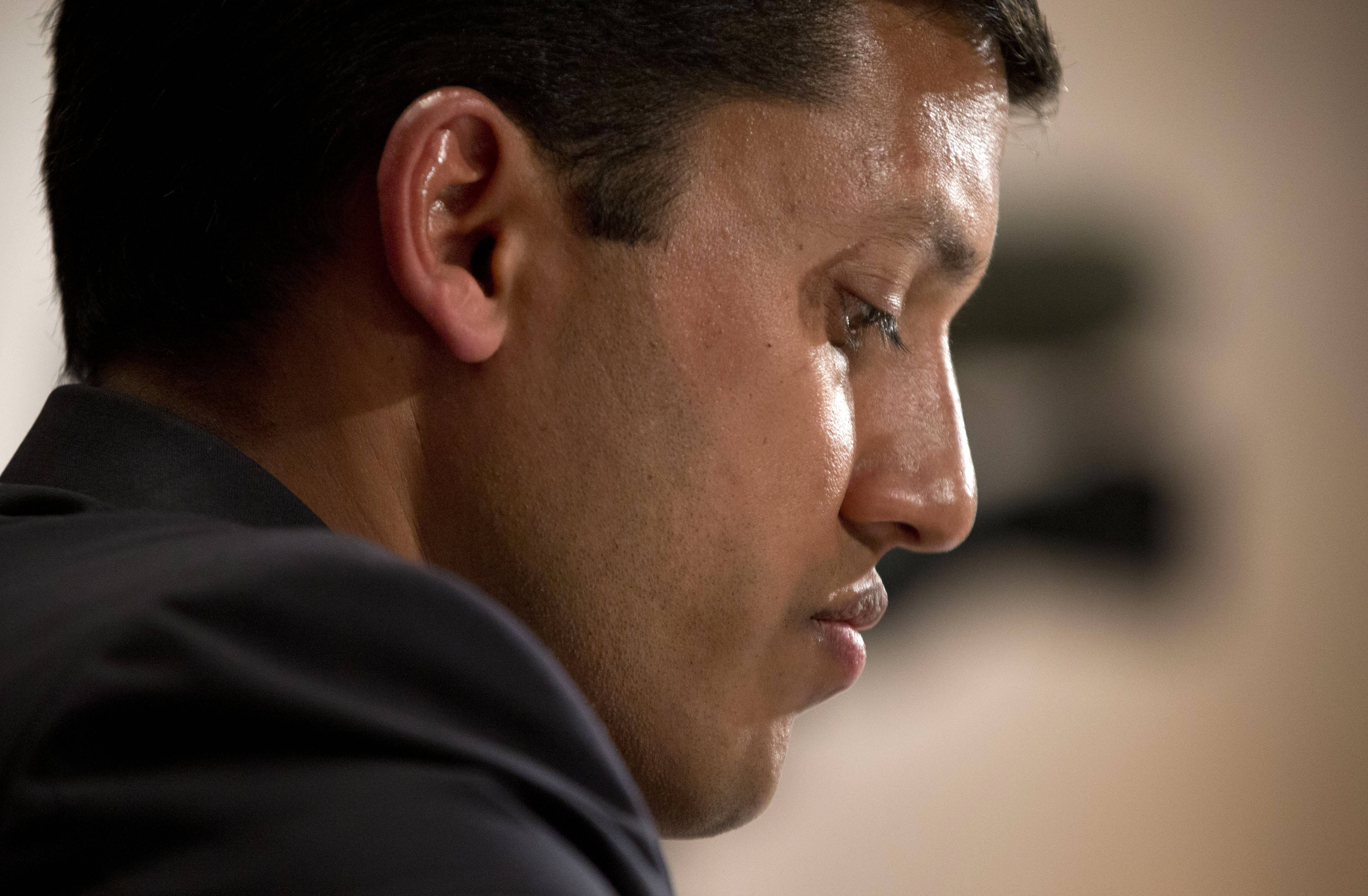 US Agency for International Development (USAID) Administrator Dr. Rajiv Shah pauses testifies before the Senate subcommittee on State, Foreign Operations and Related Programs on the agency's secret 'Cuban Twitter', a social media network built to stir unrest in the communist island.