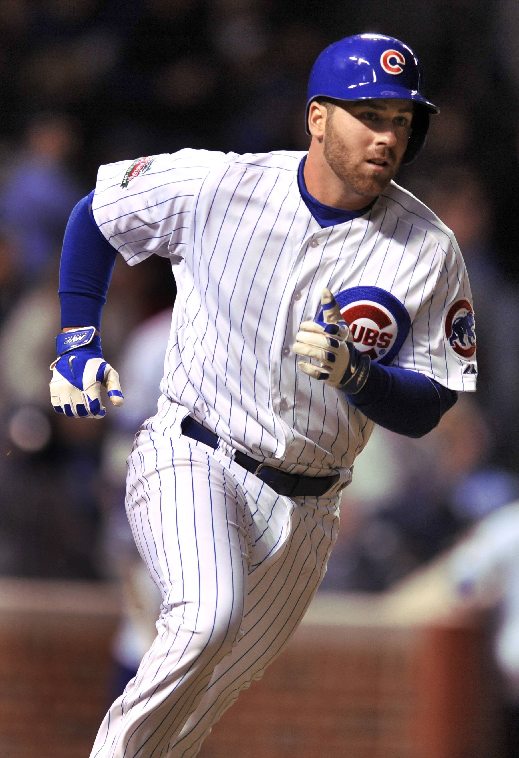Mike Olt gives the Cubs the lead for good with a 2-run homer in the fifth inning Wednesday night.