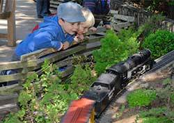 Model Railroad Garden: Landmarks of America has a magical, storybook feel that's enjoyed by kids of all ages.Photo provided courtesy of the Chicago Botanic Garden