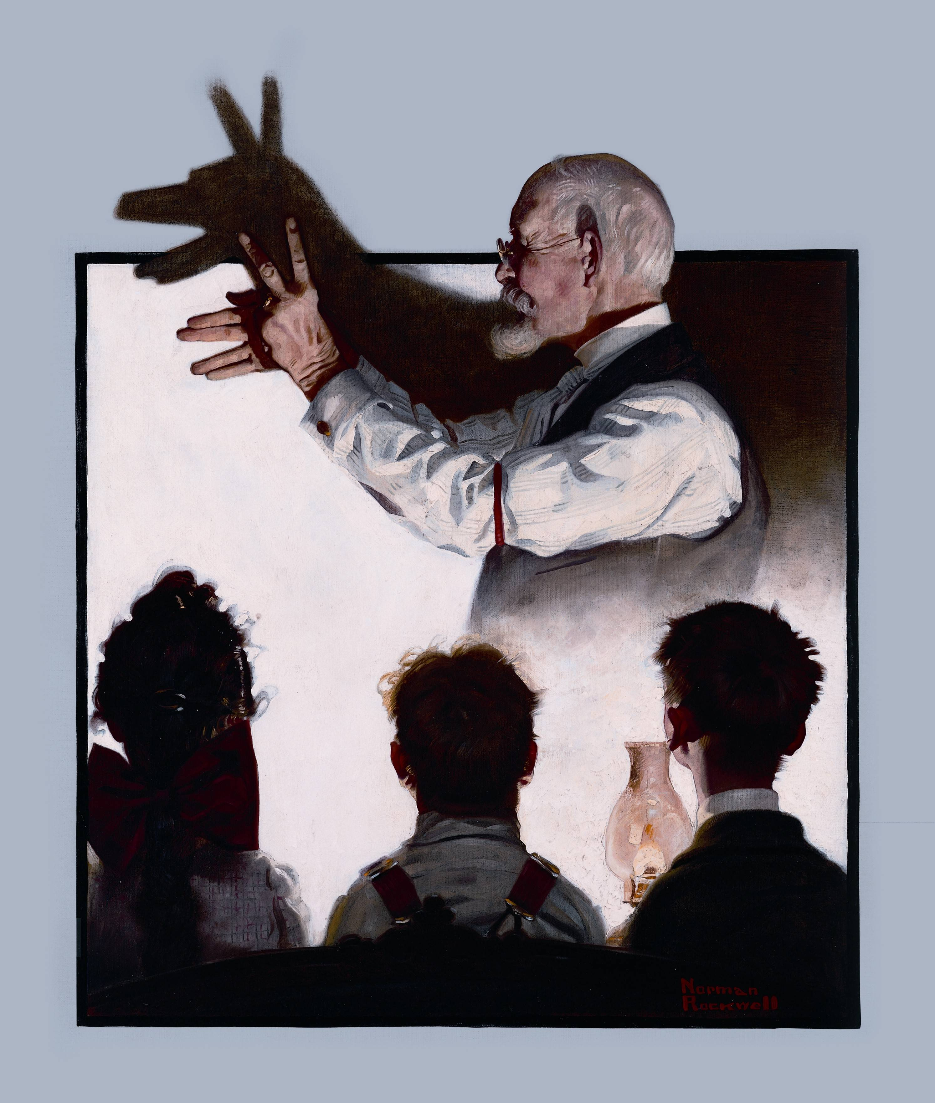 "Norman Rockwell's ""Shadow Artist"" will be among the works on display in the Lucas Cultural Arts Museum."