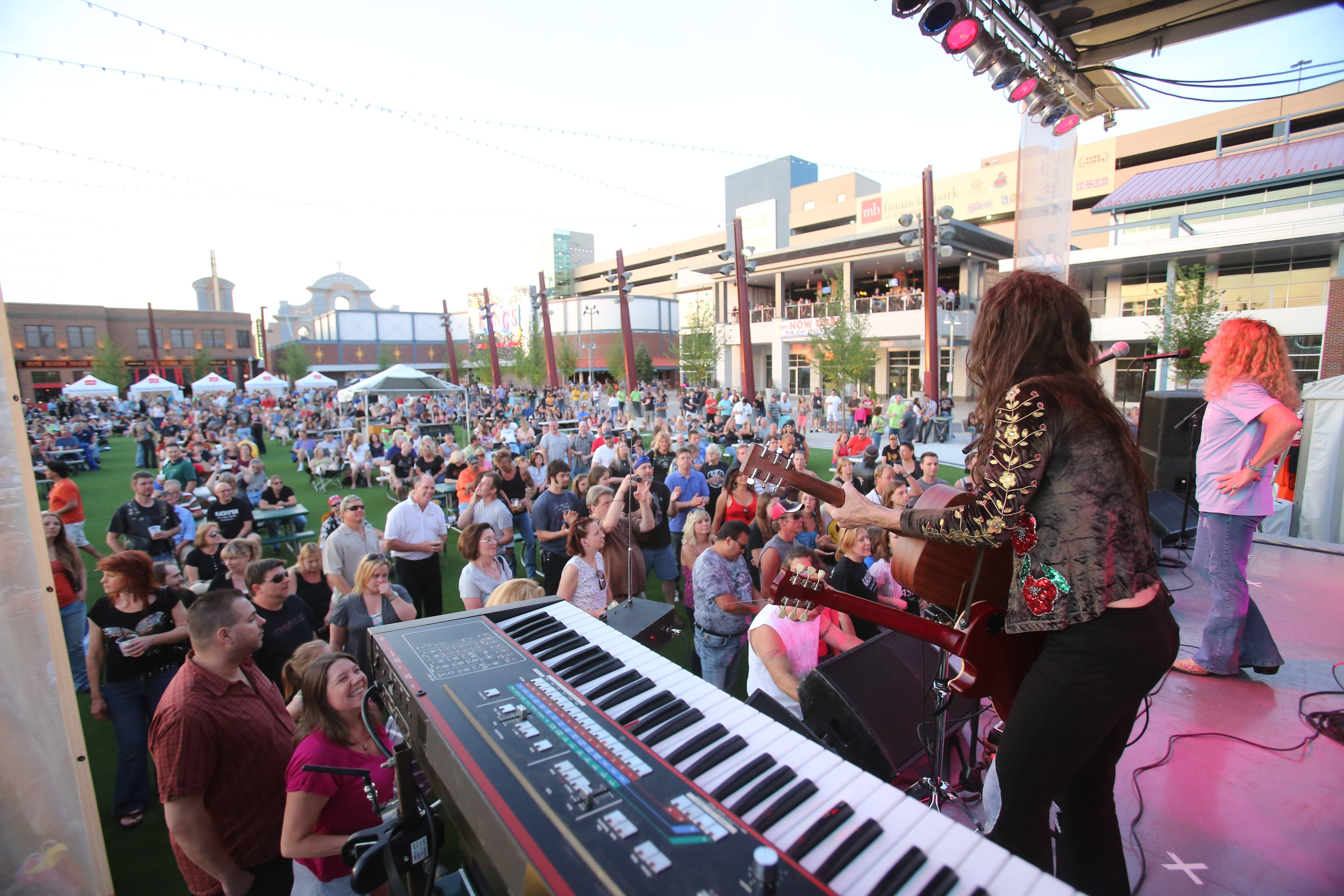 Led Zeppelin tribute band Kashmir will take the stage once again at the summer concert series in Rosemont's entertainment district. Organizers of the Rockin' in the Park concert series announced their 15-performance summer lineup Thursday.