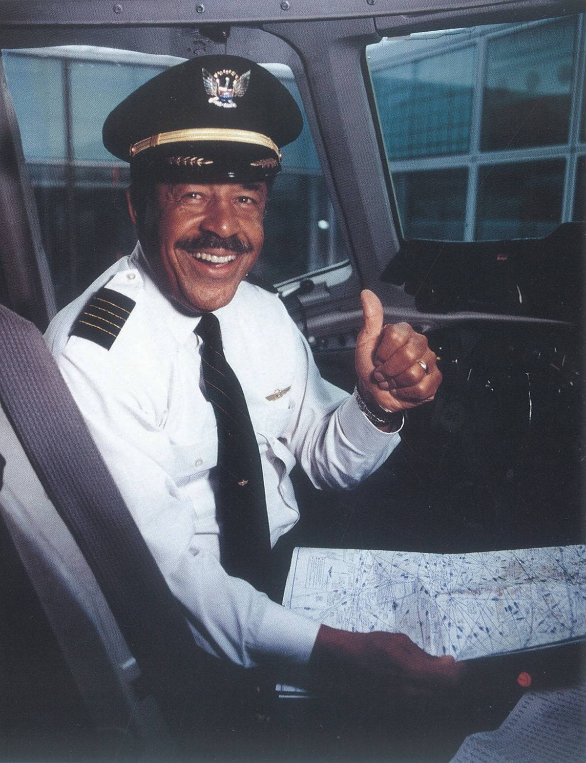 A Jackie Robinson of the skies, William R. Norwood was hired in 1965 as United Airlines' first African-American pilot.