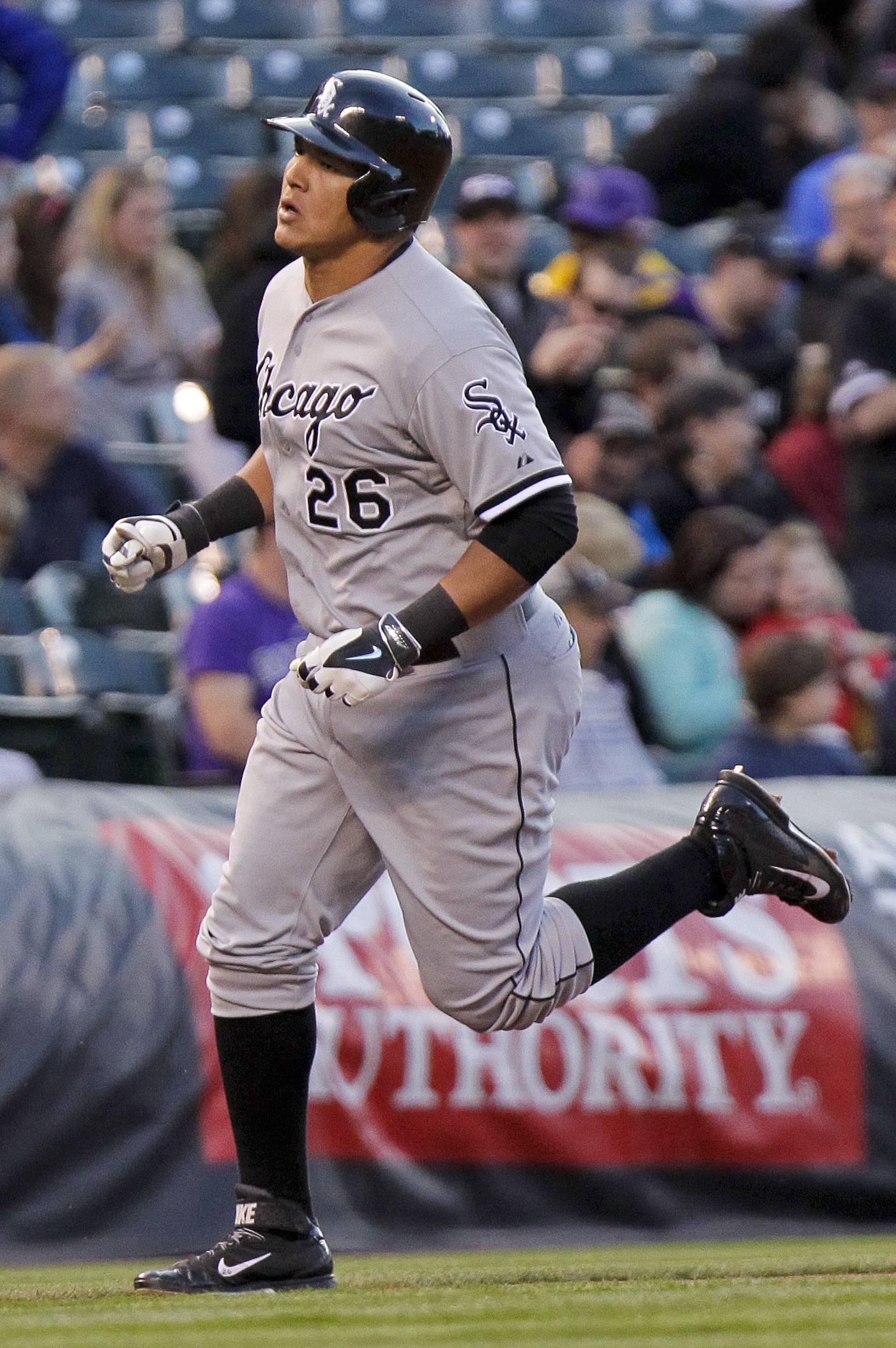Avisail Garcia (26), who hit two home runs on Tuesday, is out of the season after injuring himself on Wednesday trying to make a diving catch. Garcia will have surgery on his left shoulder to repair a torn labrum.