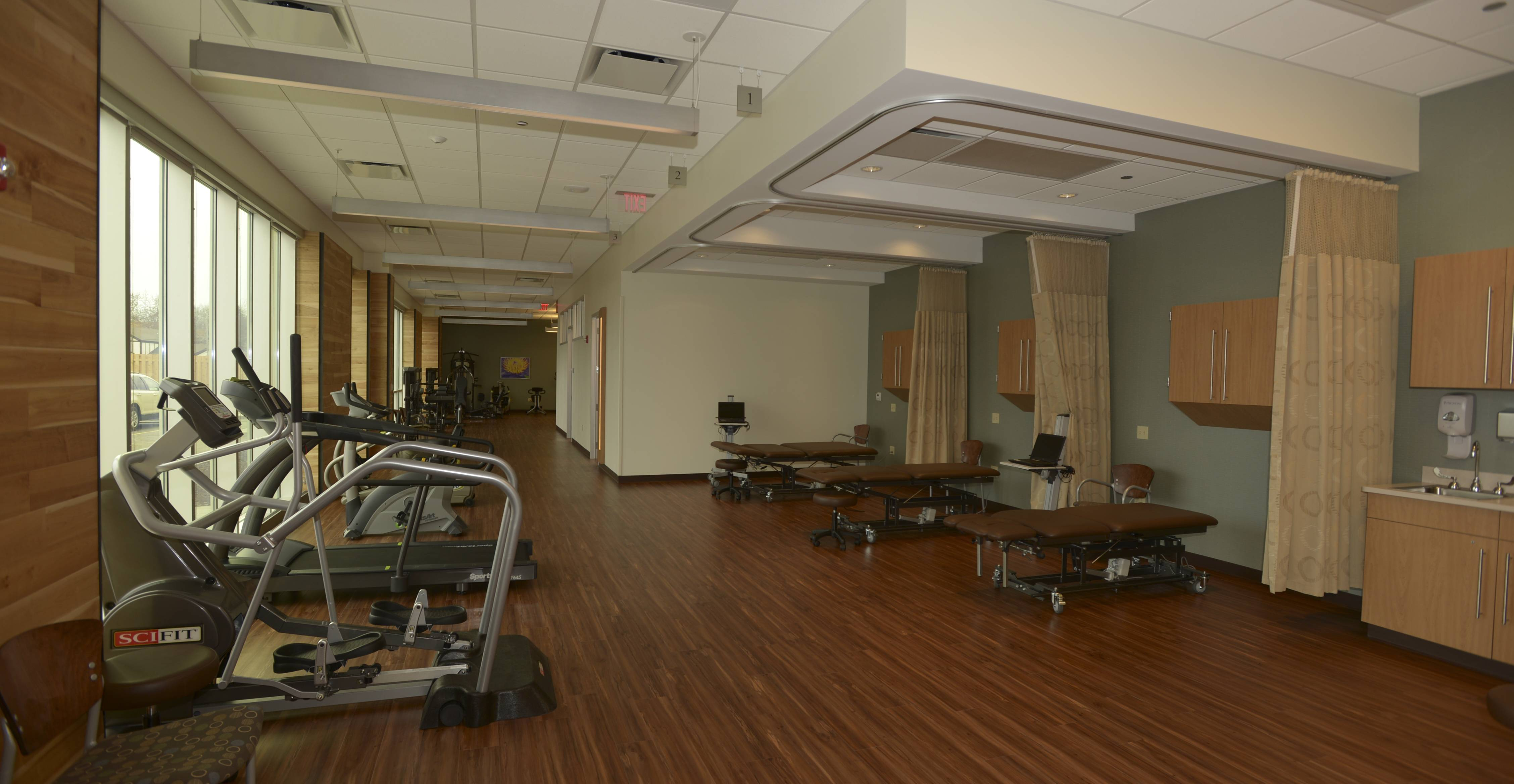 A physical and occupational therapy suite is among the amenities at the new DuPage Medical Group Building in downtown Wheaton.