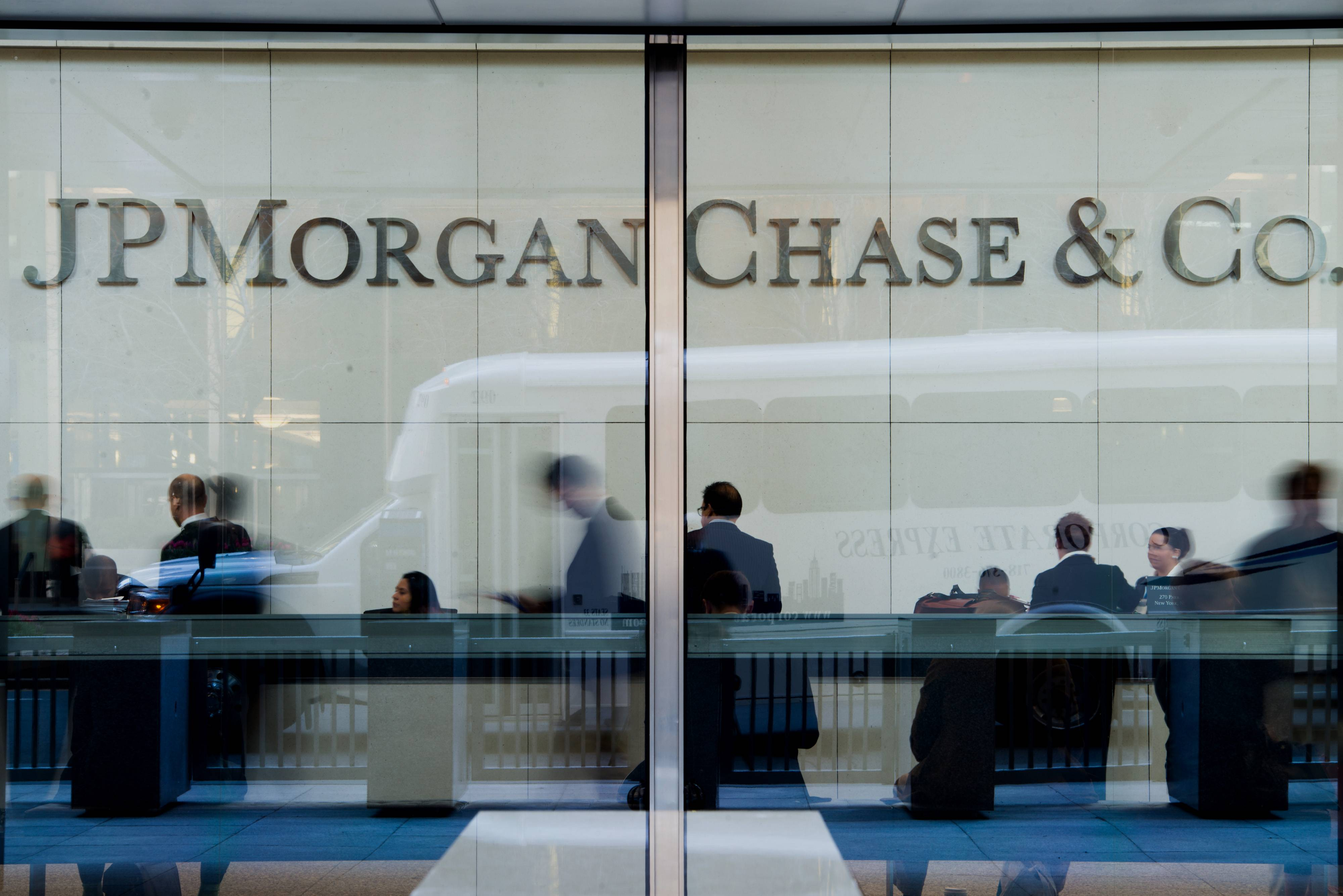 JPMorgan Chase, the country's biggest bank by assets, says its first-quarter earnings fell.