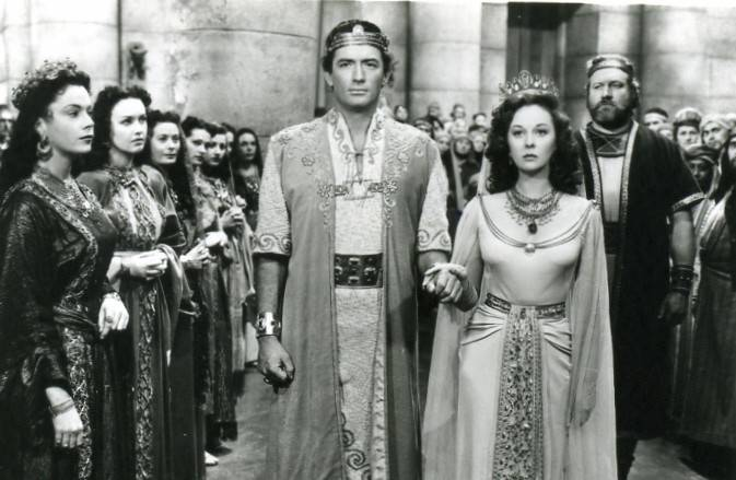 "Gregory Peck and Susan Hayward star as ""David and Bathsheba."""