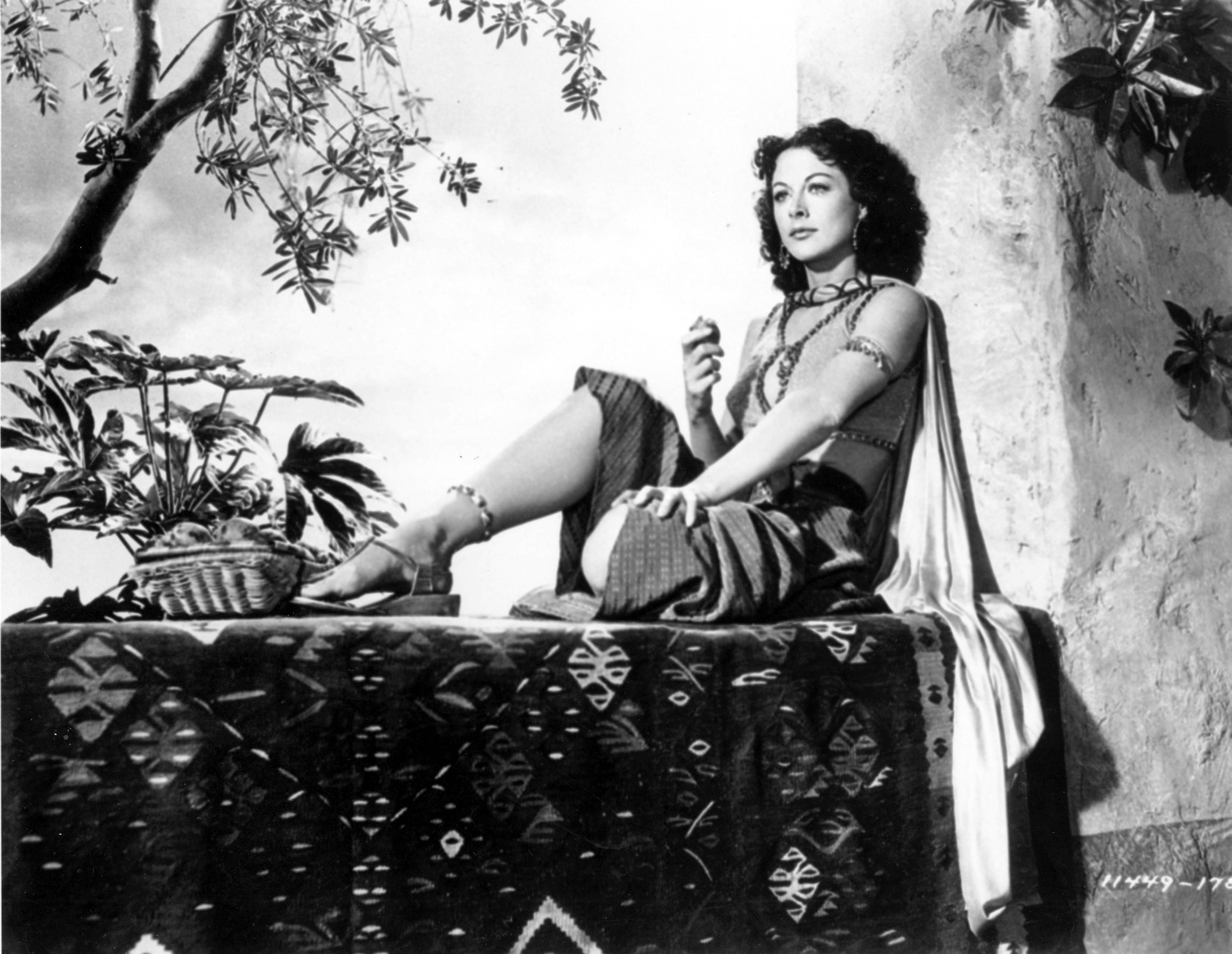 "Hedy Lamarr played the temptress in Cecil B. DeMille's ""Samson and Delilah."""