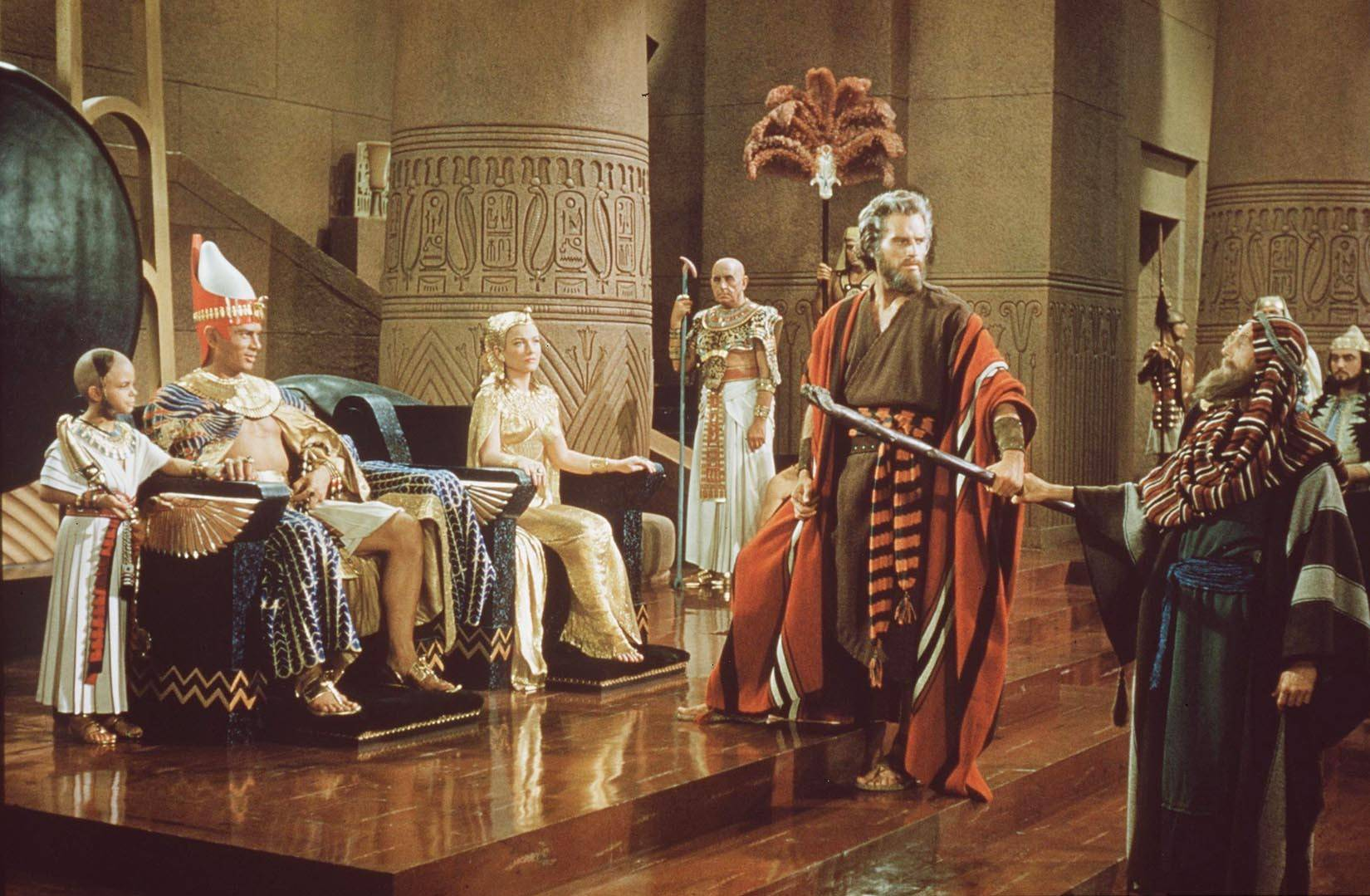 """The Ten Commandments,"" with Charlton Heston as Moses, is the ultimate Cecil B. DeMille epic."