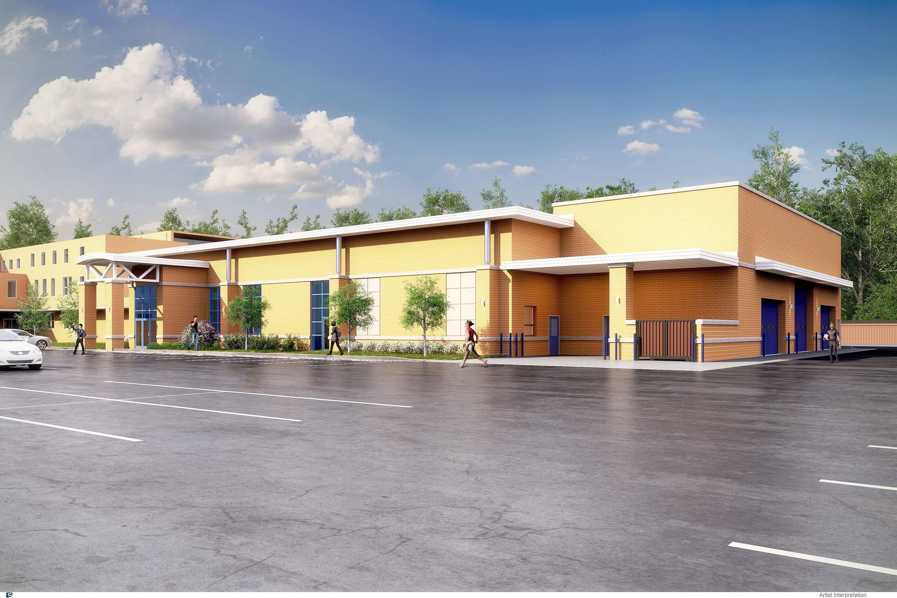 The proposed $7 million cafeteria at St. Viator High School in Arlington Heights would offer a college-style food court.