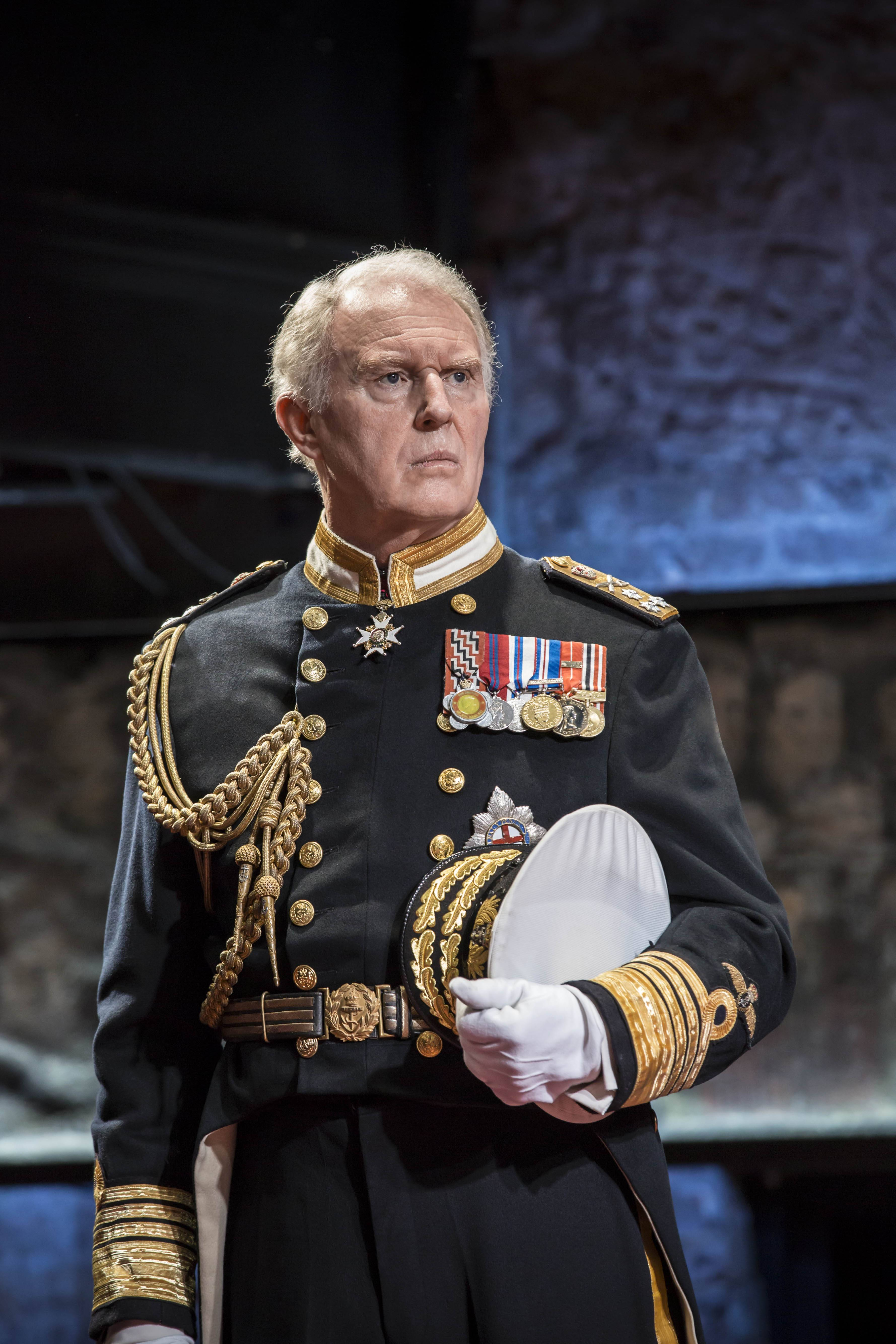 Actor Tim Pigott-Smith plays Britain's Prince Charles during in the play 'King Charles III' at the Almeida Theatre in London. The new play about Britain's future king is getting rave reviews.