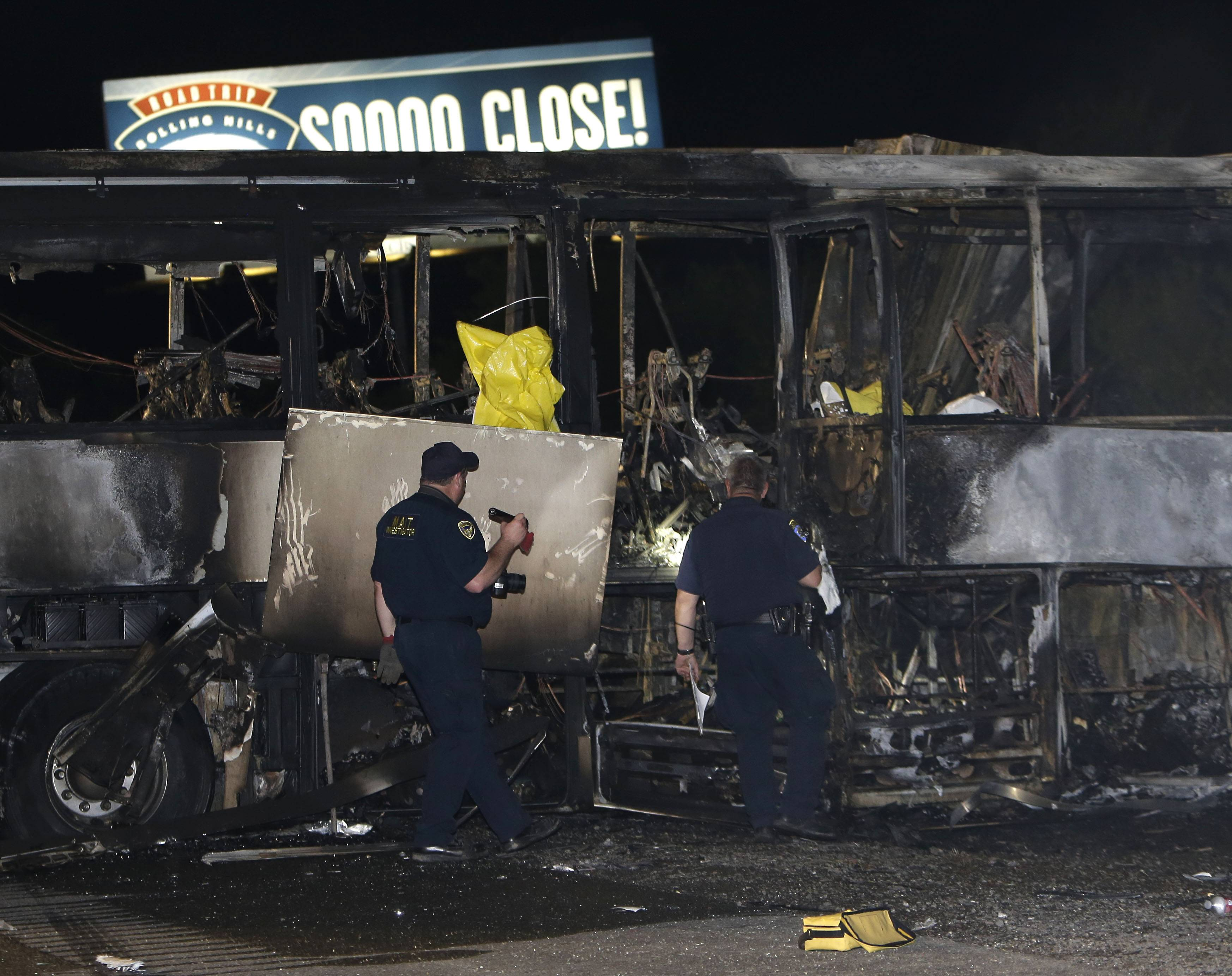 At least 10 people were killed and dozens injured in a fiery crash between a tour bus and a FedEx truck on Interstate 5 Thursday. The bus was carrying high school students on a visit to a Northern California college.