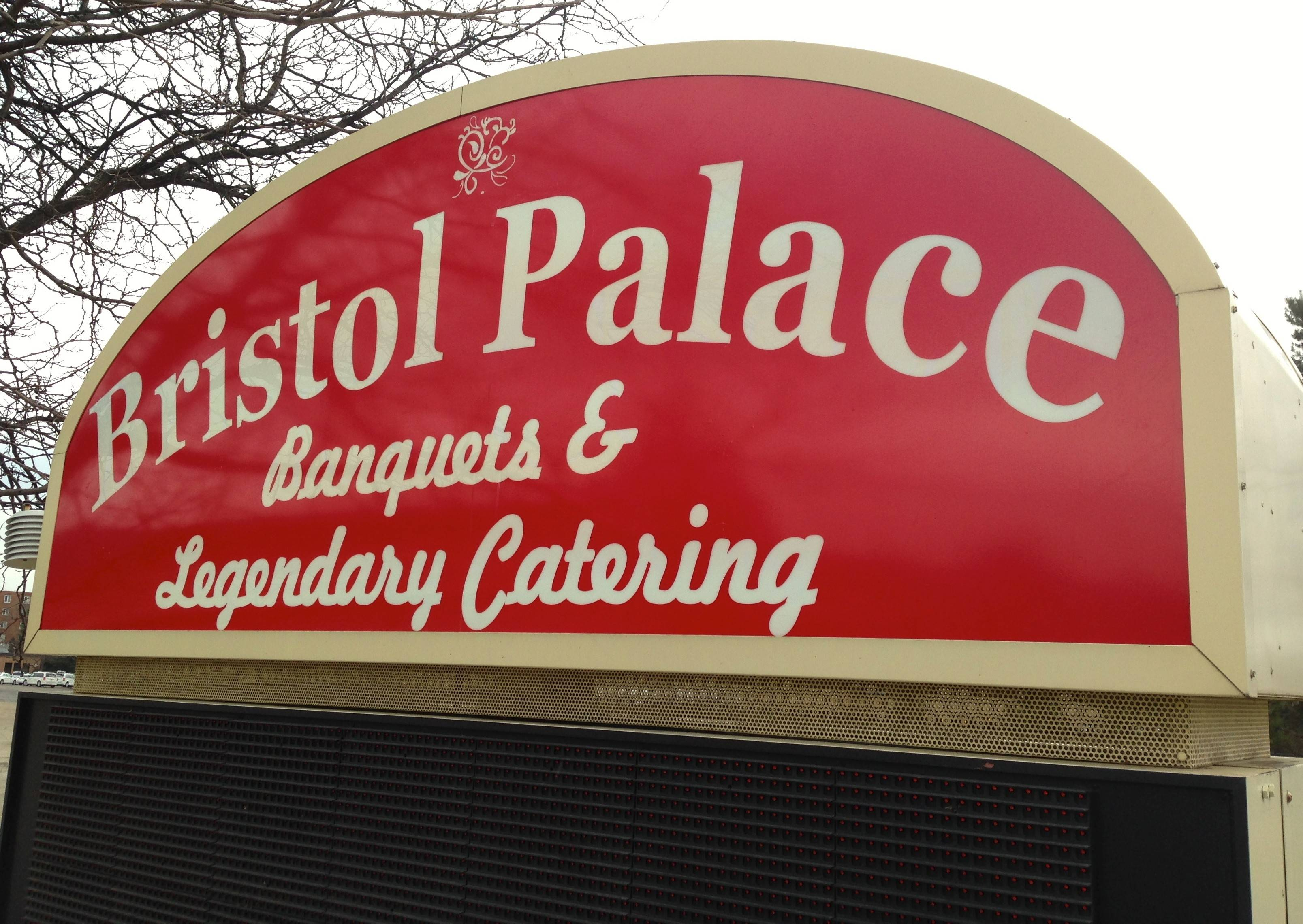 A sign announces the impending arrival of Bristol Palace, the business that will replace the recently closed Bristol Court banquet hall in Mount Prospect.