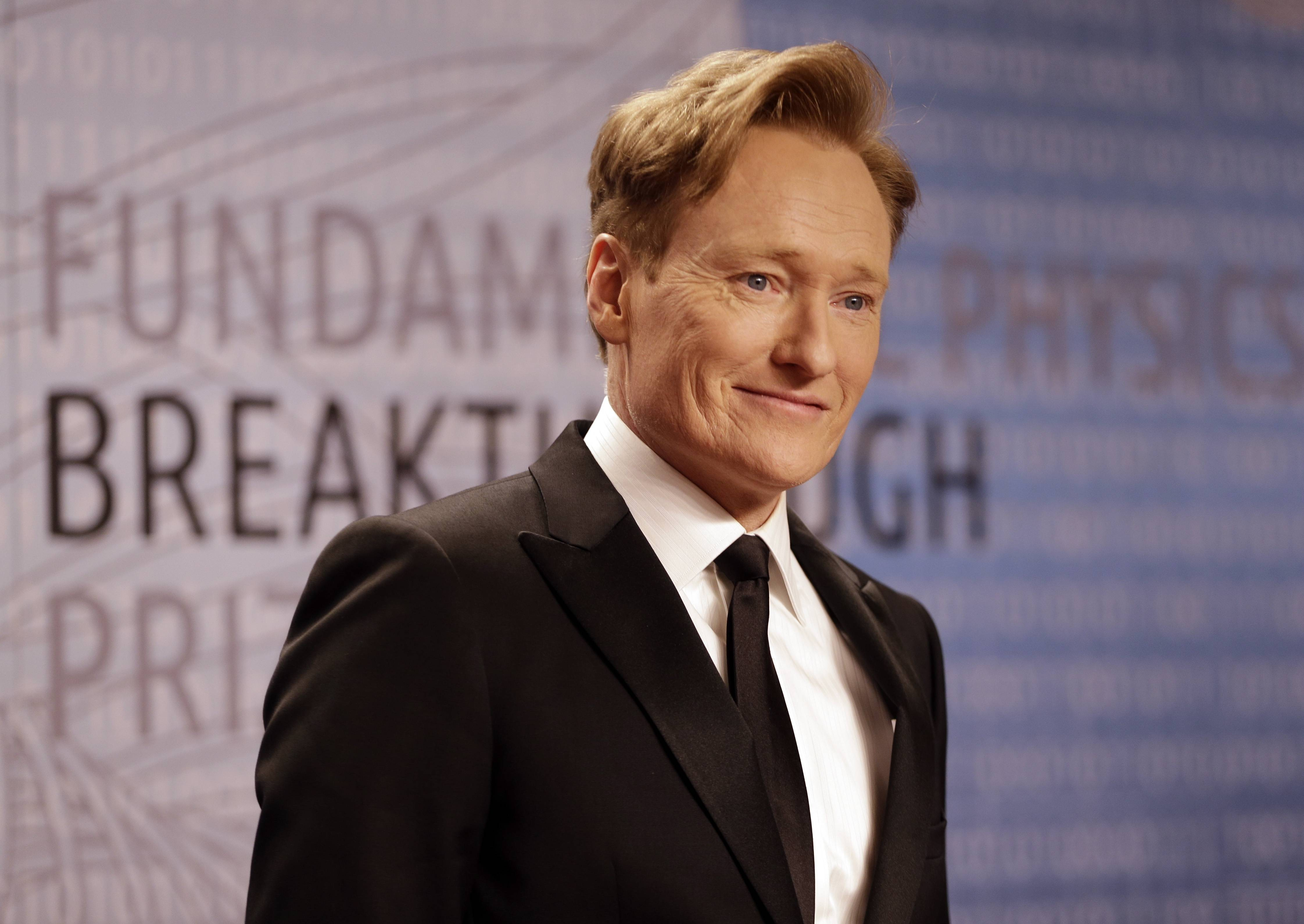 Talk show host Conan O'Brien hosts the 2014 MTV Movie Awards on Sunday at the Nokia Theatre in downtown Los Angeles.
