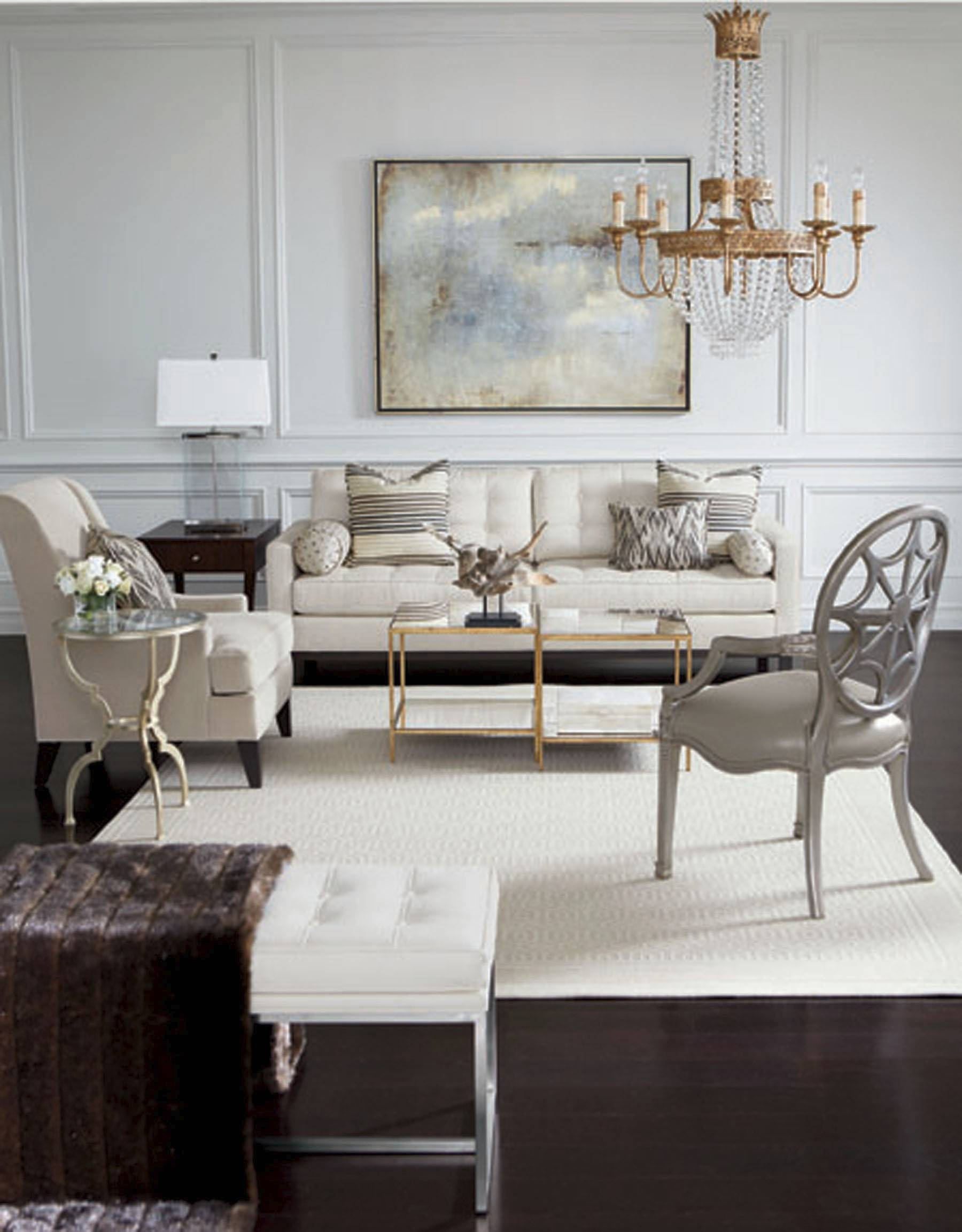 Buy wisely, and white can be the just-right color for a calm, sophisticated living room.