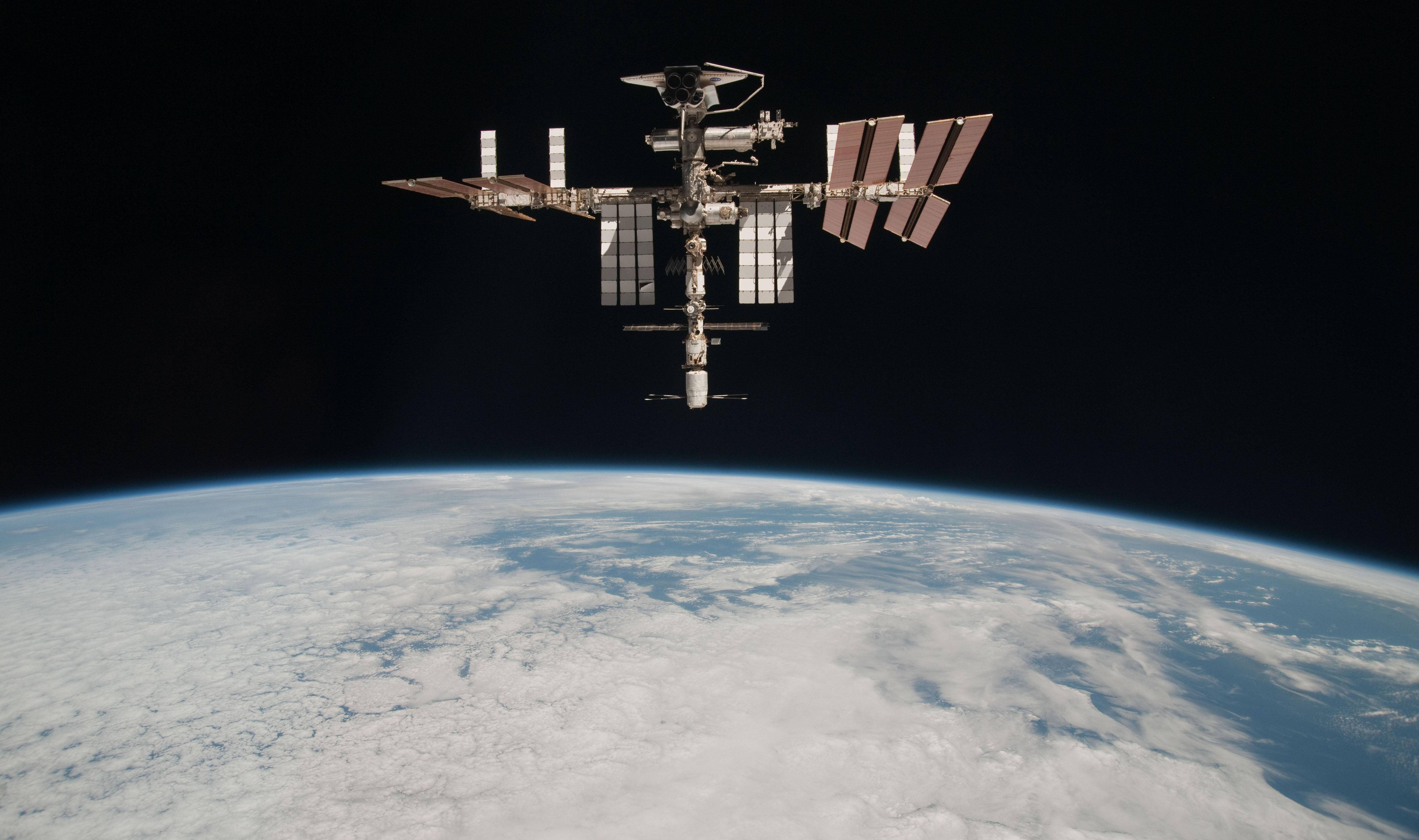 Associated Press/May 23, 2011, from NASA The International Space Station at an altitude of approximately 220 miles above the Earth.