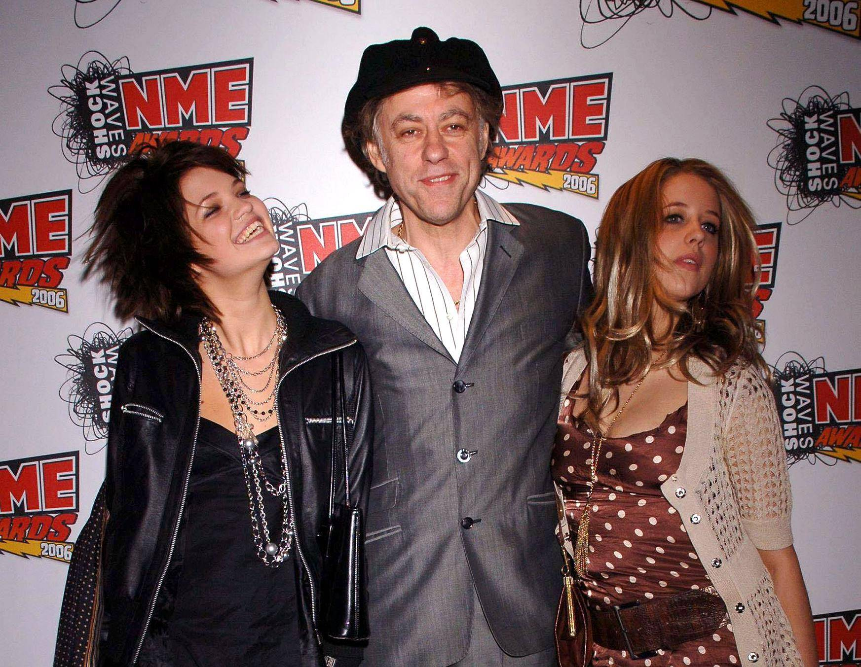 Bob Geldof with his daughters Pixie, left, and Peaches.