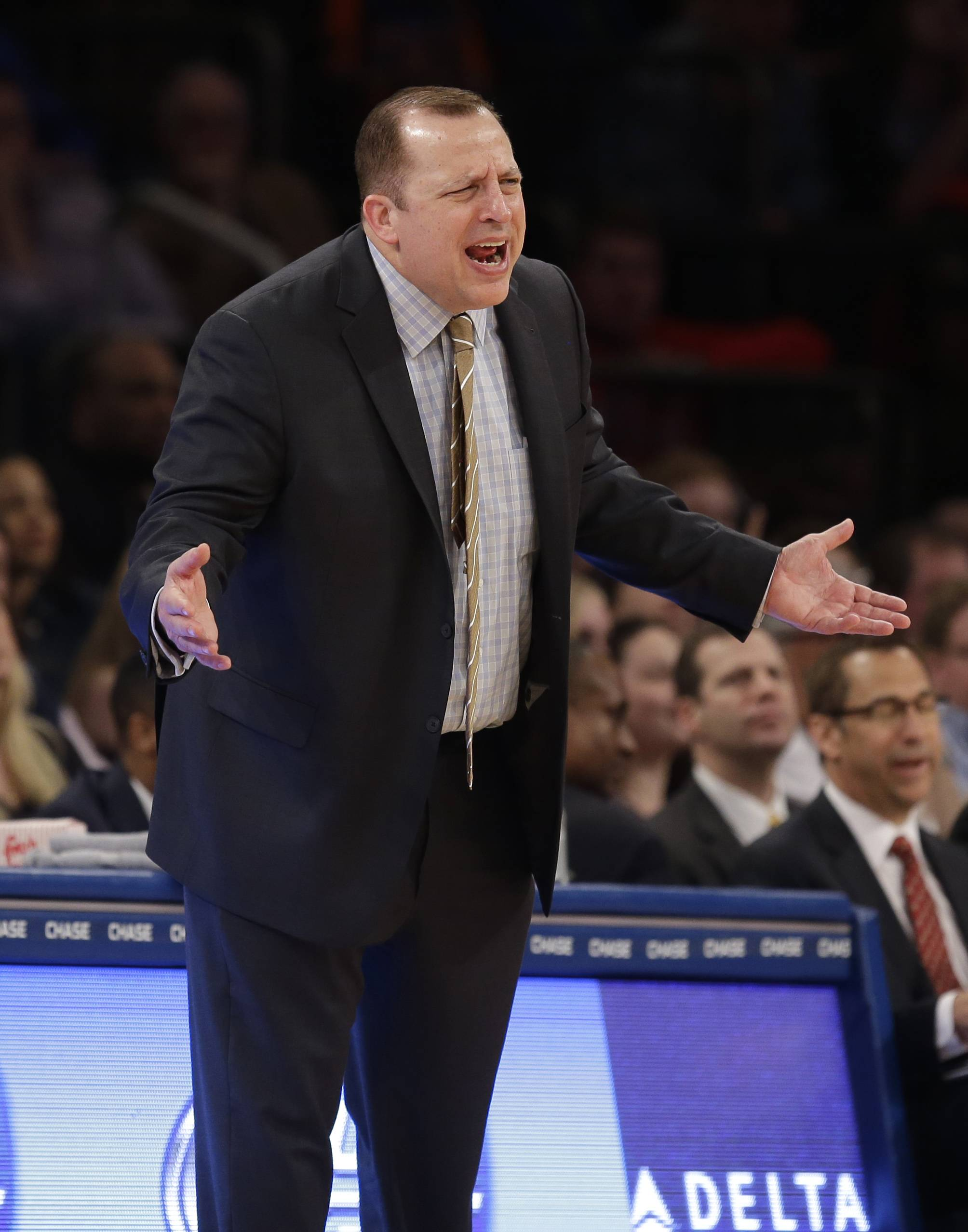 Bulls coach Tom Thibodeau wasn't happy with his team's defense in Sunday night's loss to the Knicks.