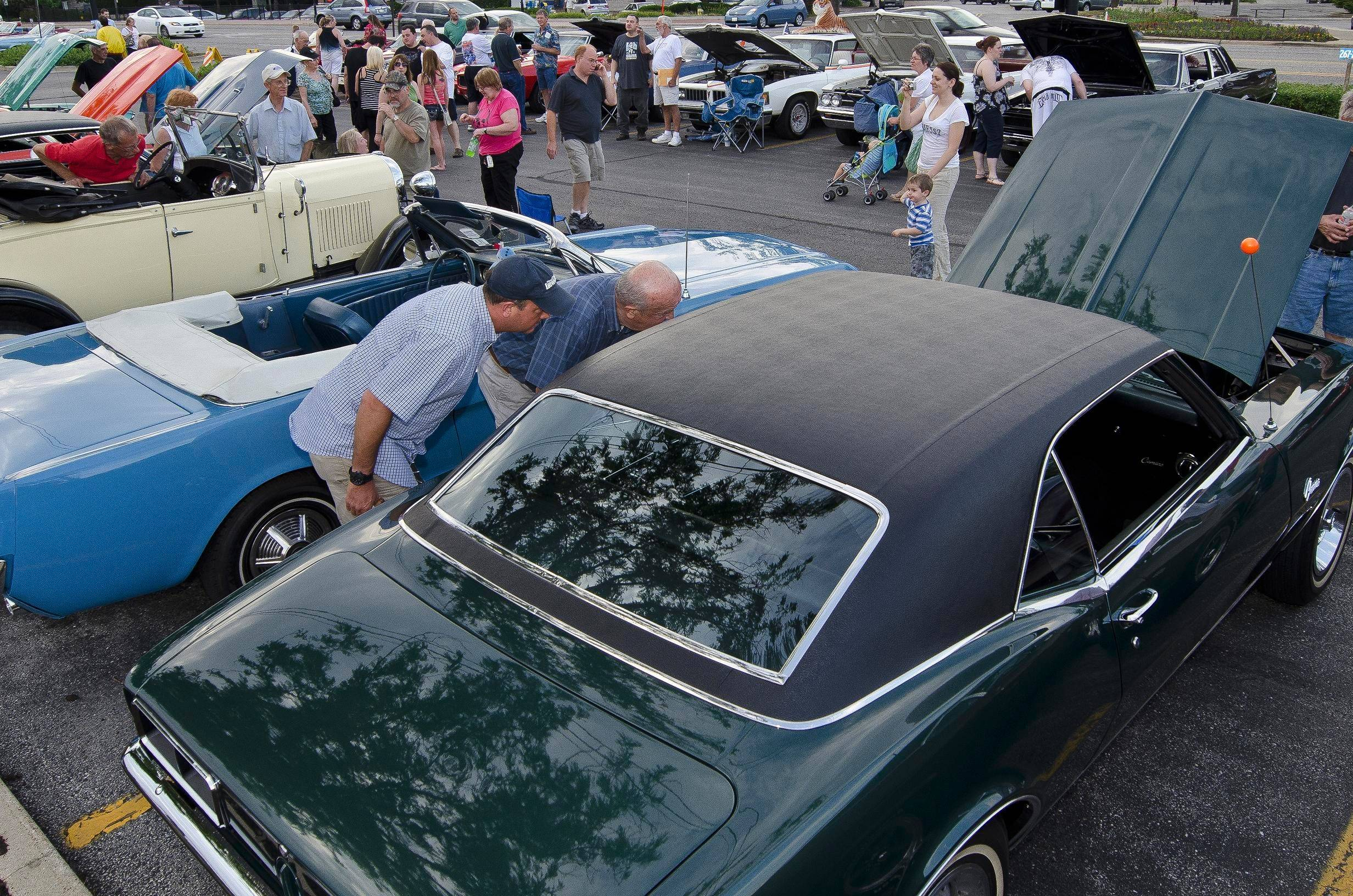Mount Prospect's Bluesmobile Cruise Nights are Saturday evenings, May 17 to Sept. 27, in the downtown commuter train lot on Northwest Highway.