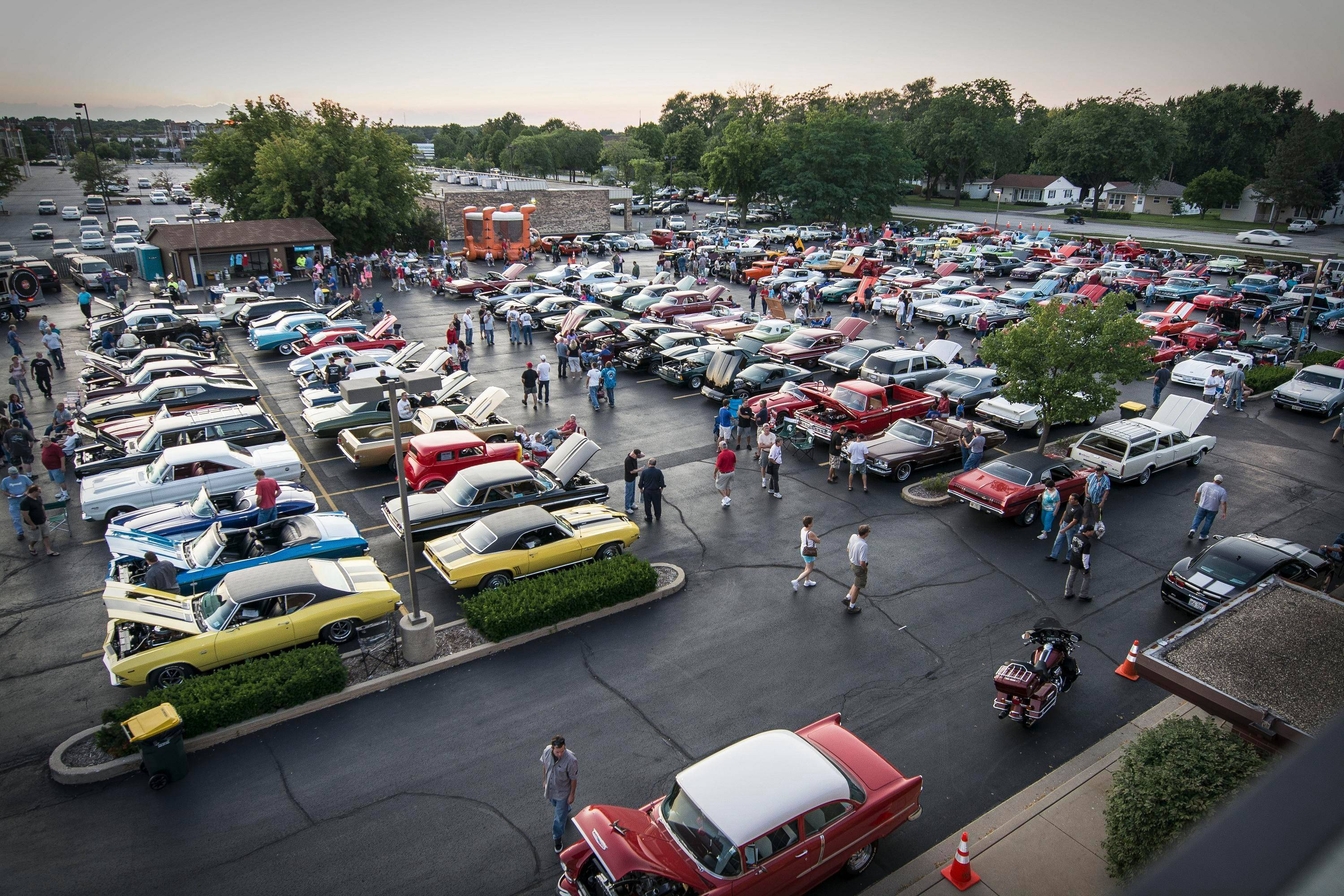 More than 200 cars showed up last year for the first Rolling Meadows cruise night at Meadows Christian Fellowship Church on Kirchoff Road.