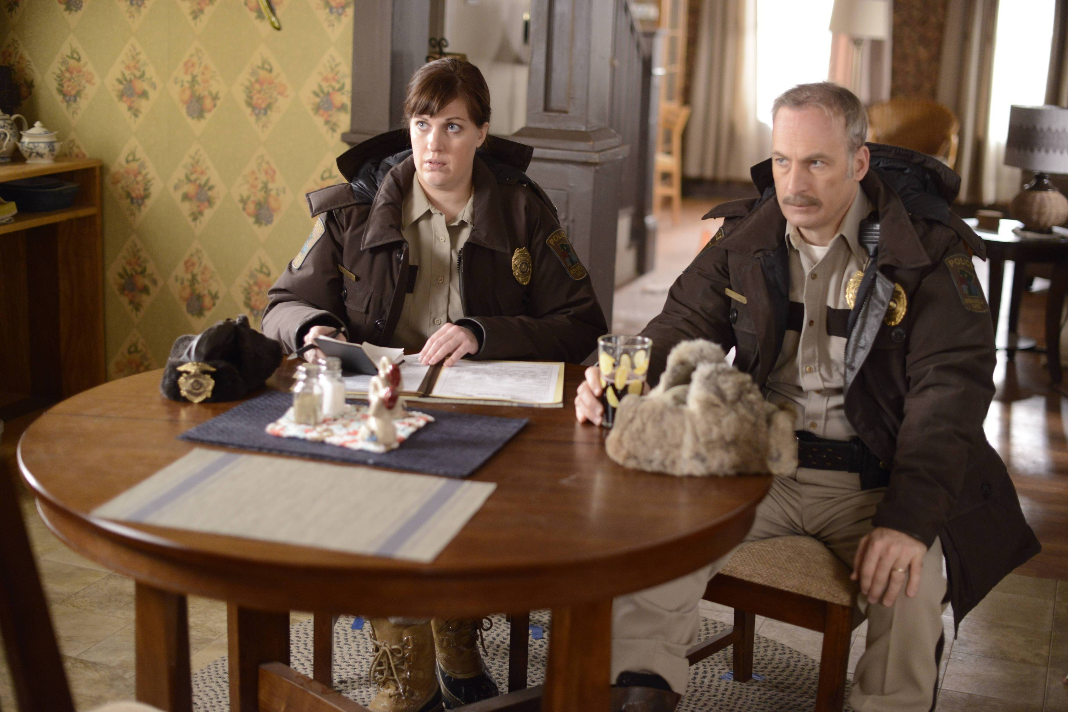 "Allison Tolman and Naperville native Bob Odenkirk star in FX's ""Fargo."""